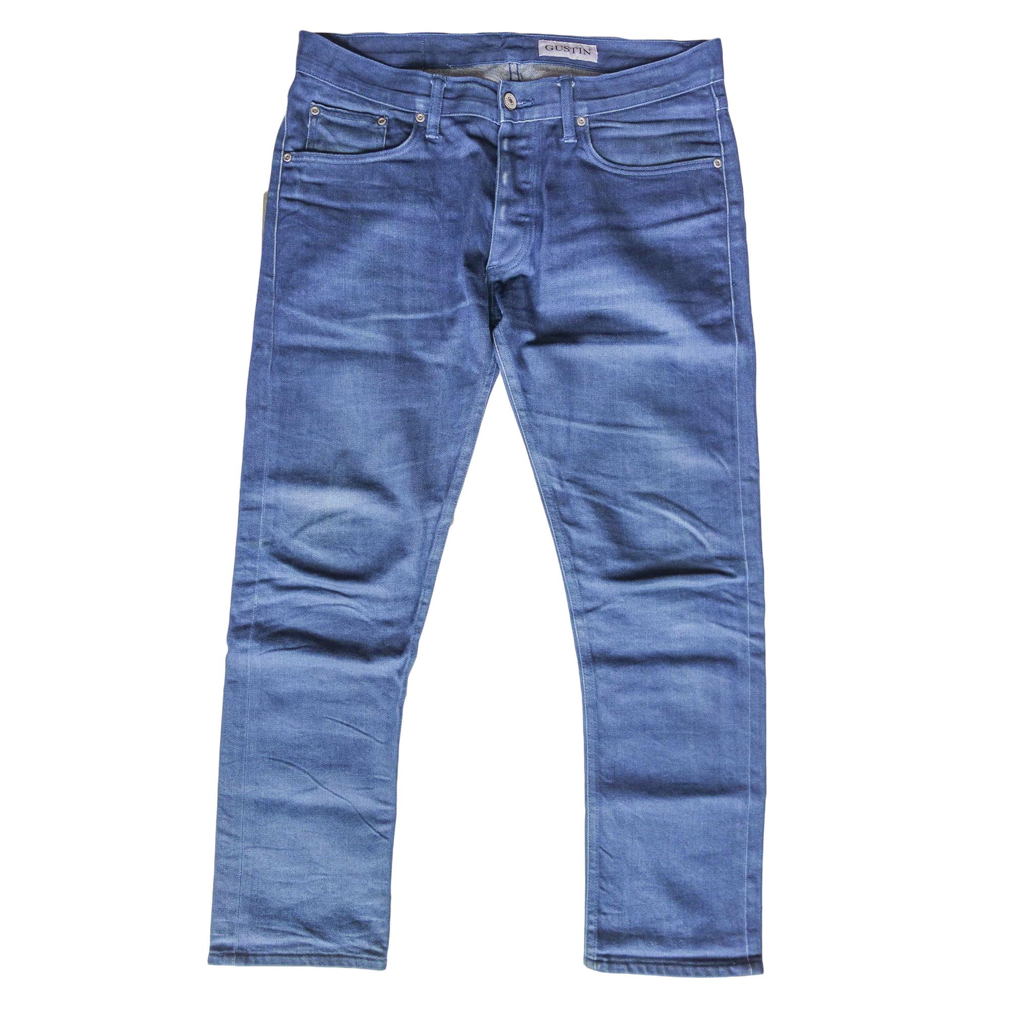 Jeans slim GUSTIN Bleu, bleu marine, bleu turquoise