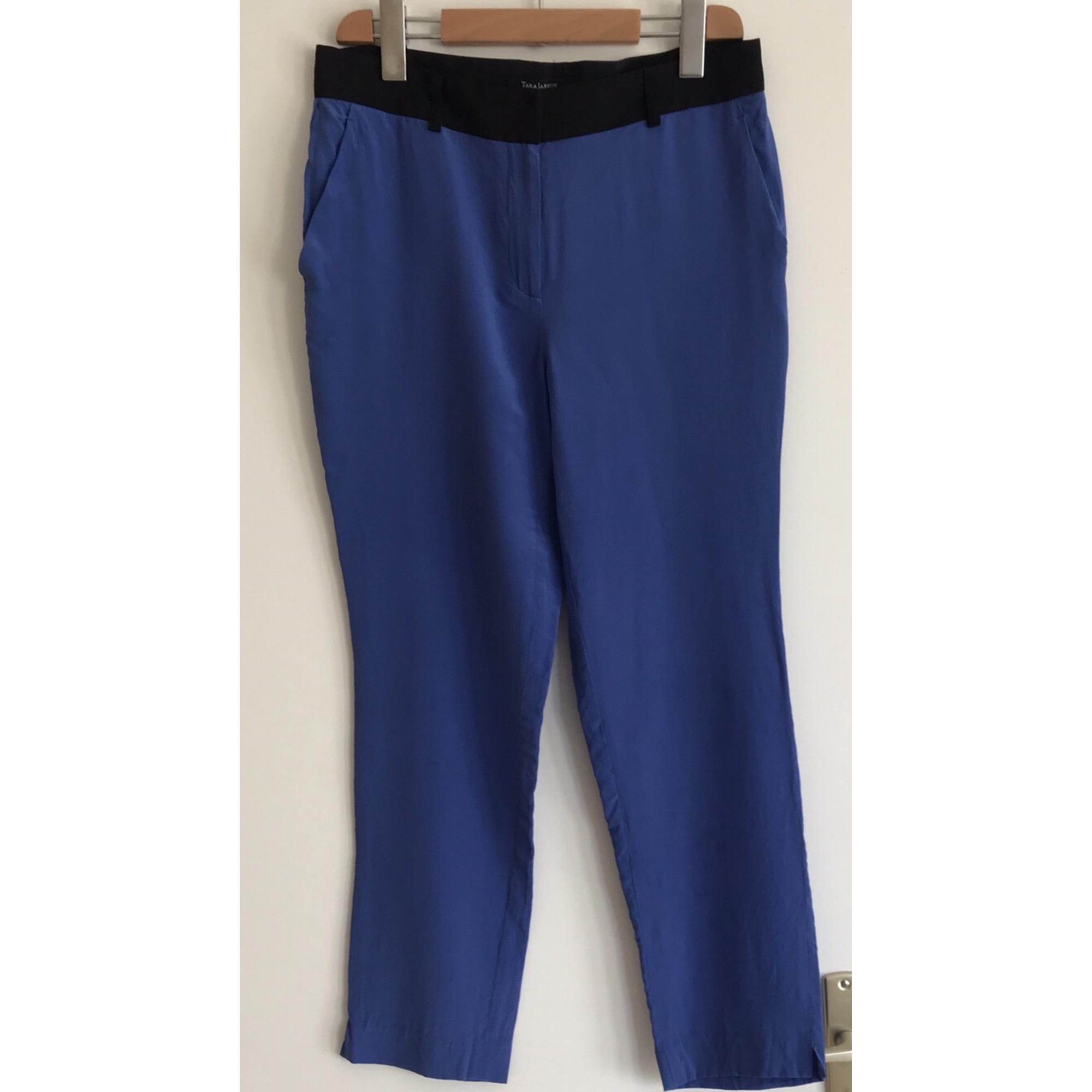 Pantalon droit TARA JARMON Bleu, bleu marine, bleu turquoise