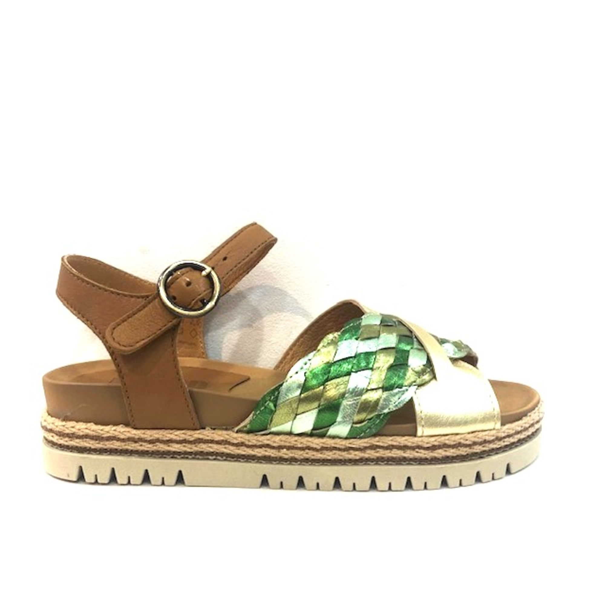 Sandales plates  MINKA Vert