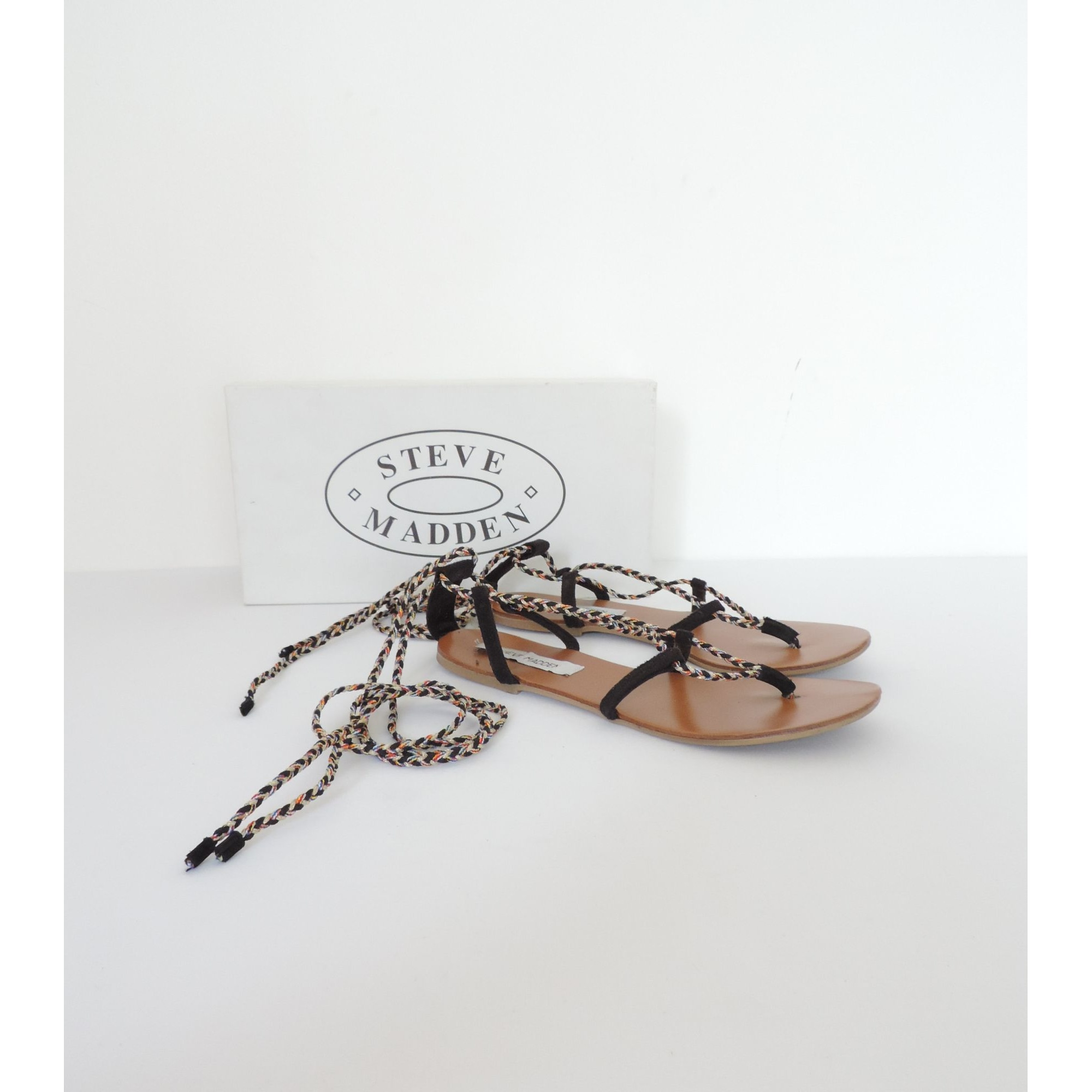 Sandales plates  STEVE MADDEN Noir
