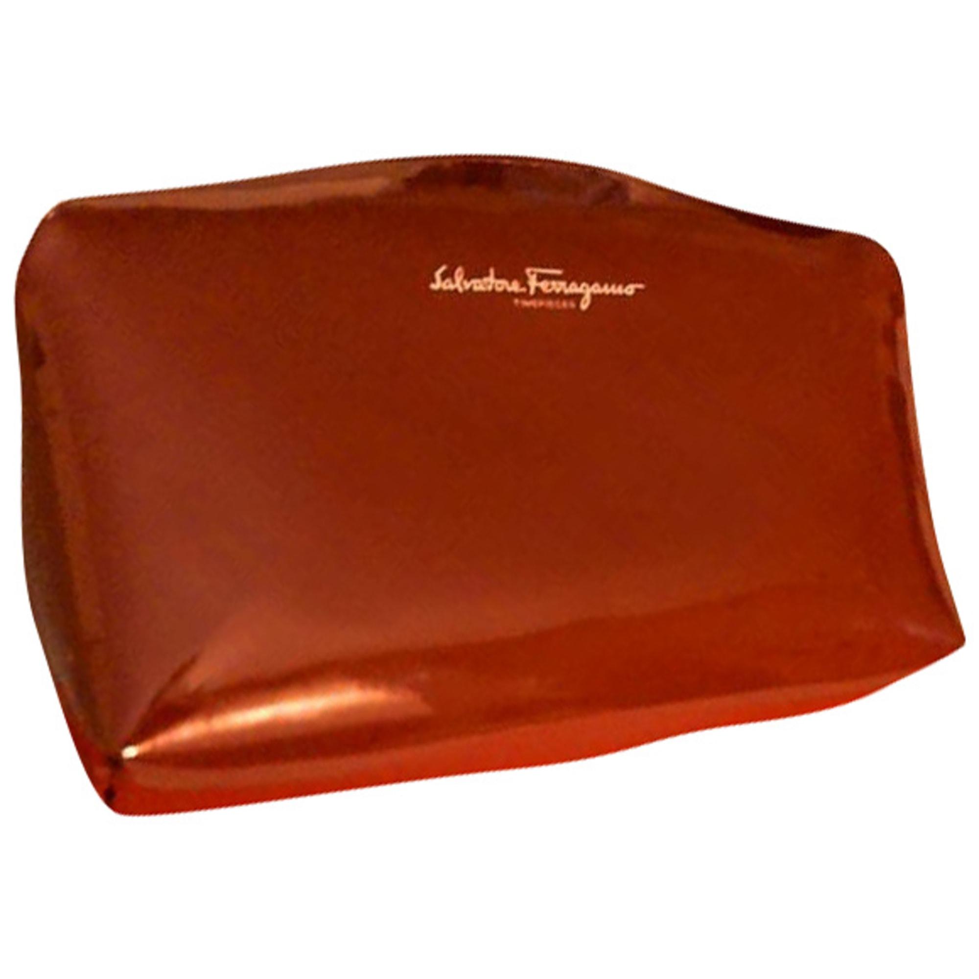 Sac pochette en cuir SALVATORE FERRAGAMO Rouge, bordeaux