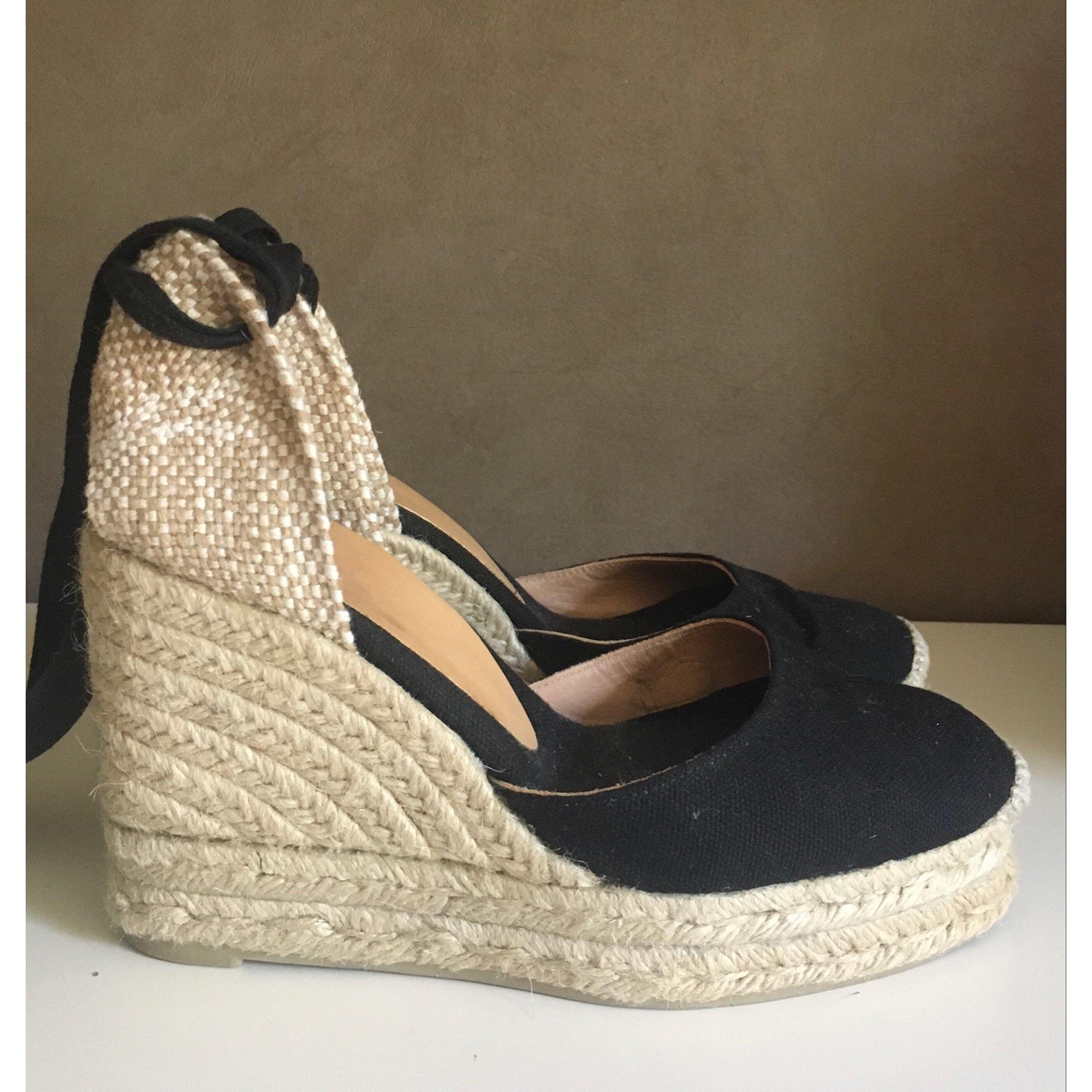 Sandales compensées CASTANER Noir