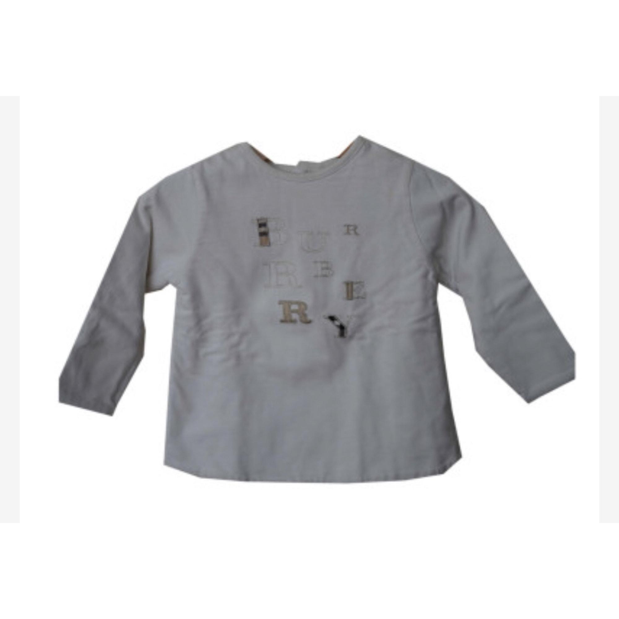 Top, tee shirt BURBERRY Blanc, blanc cassé, écru