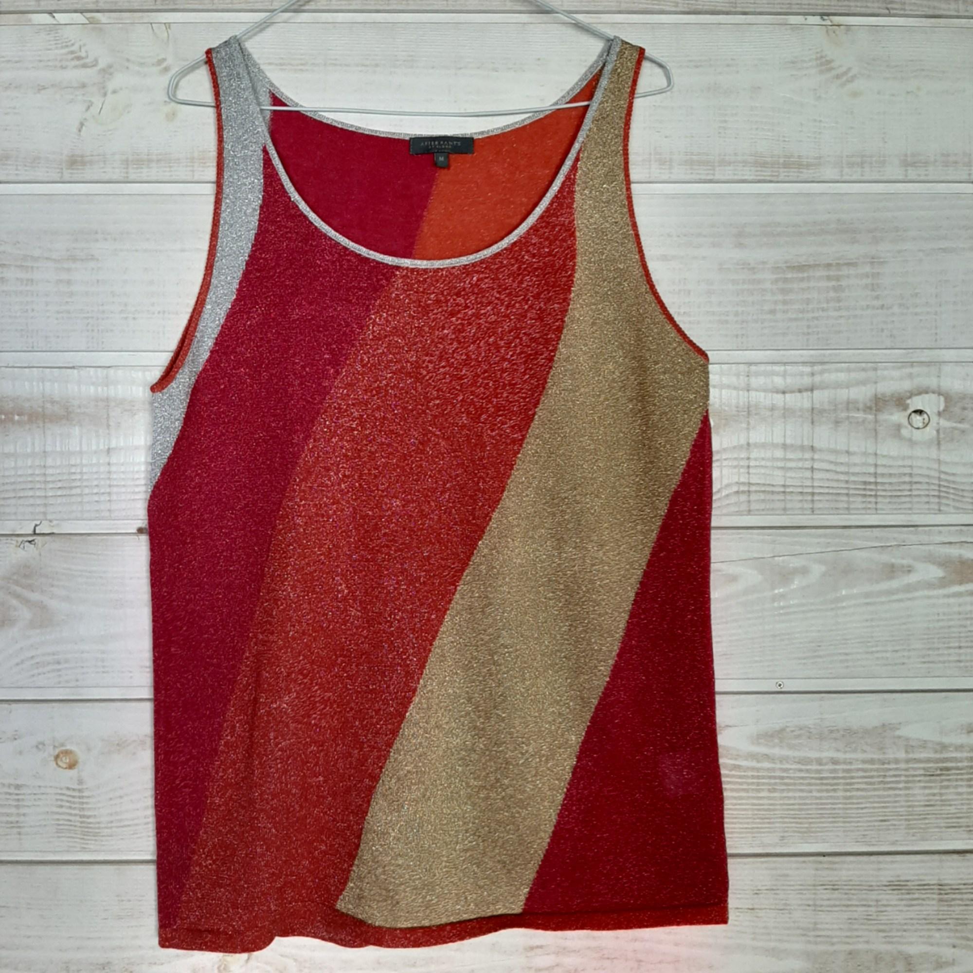 Top, tee-shirt AFTER PANT'S Doré, bronze, cuivre