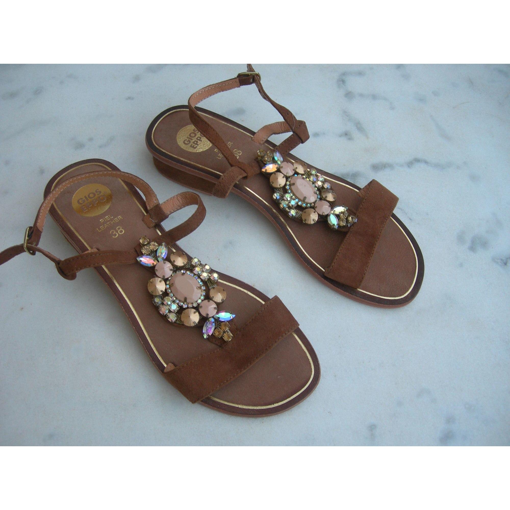 Sandales à talons GIOSEPPO Beige, camel