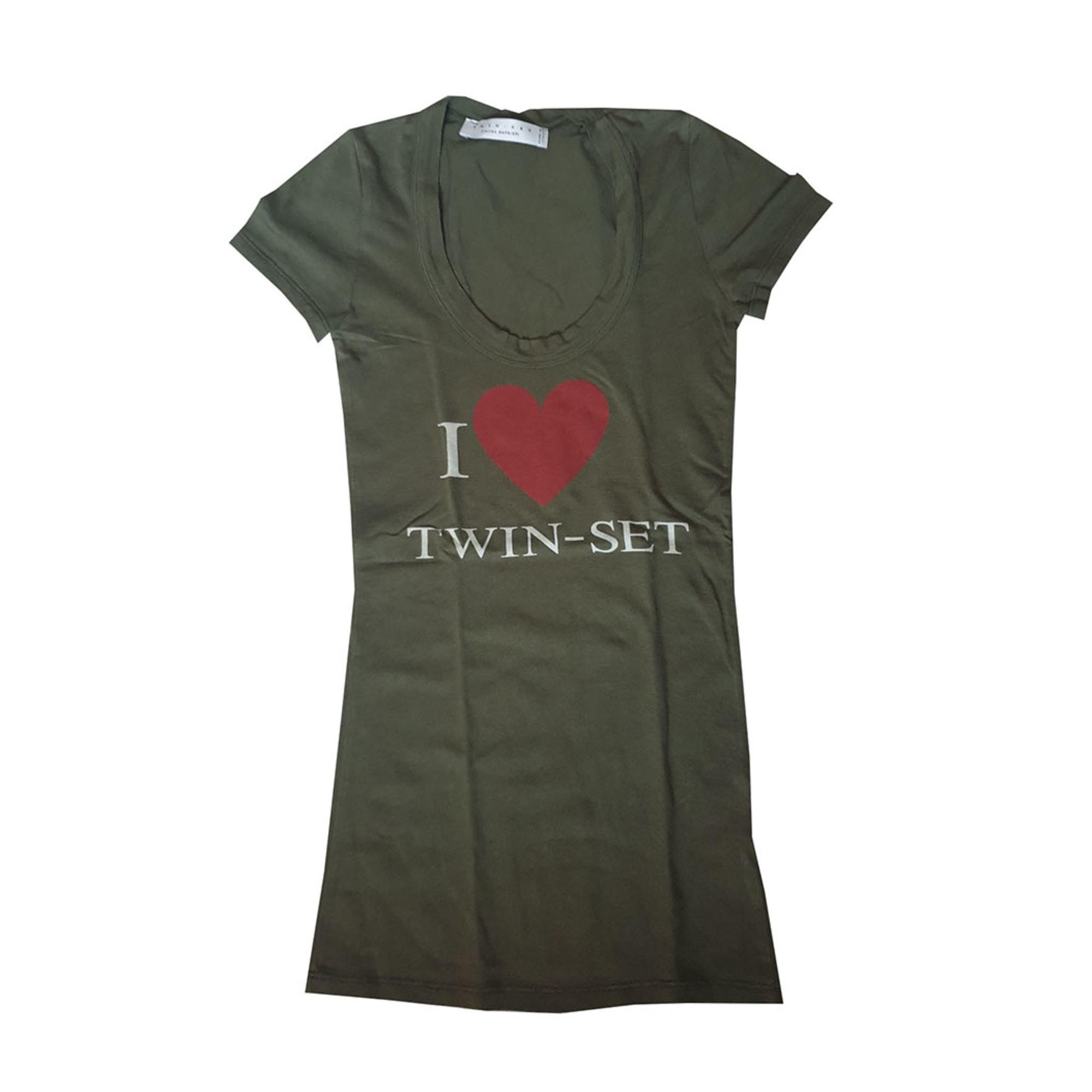Top, tee-shirt TWIN-SET SIMONA BARBIERI Vert