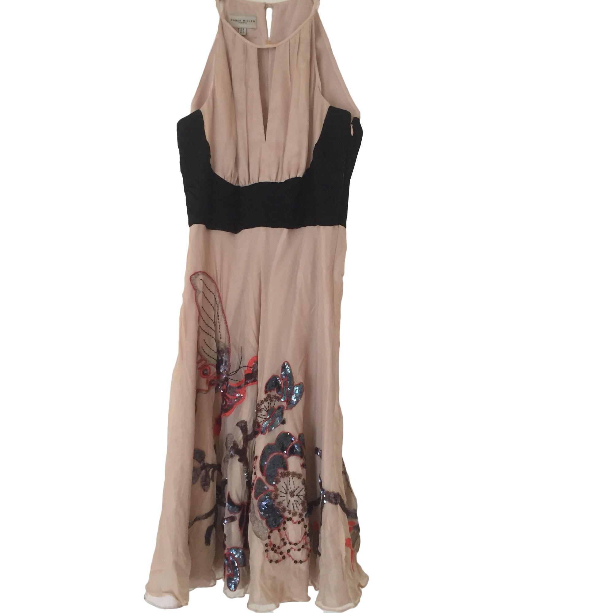 Robe mi-longue KAREN MILLEN Beige, camel