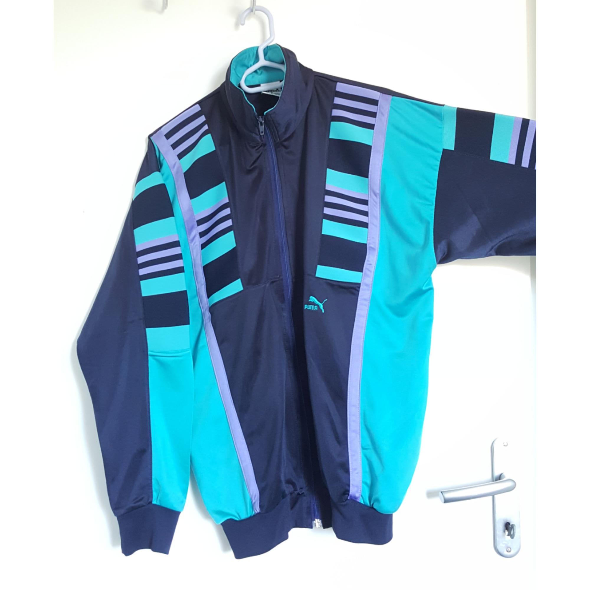 Haut de survêtement PUMA Bleu, bleu marine, bleu turquoise