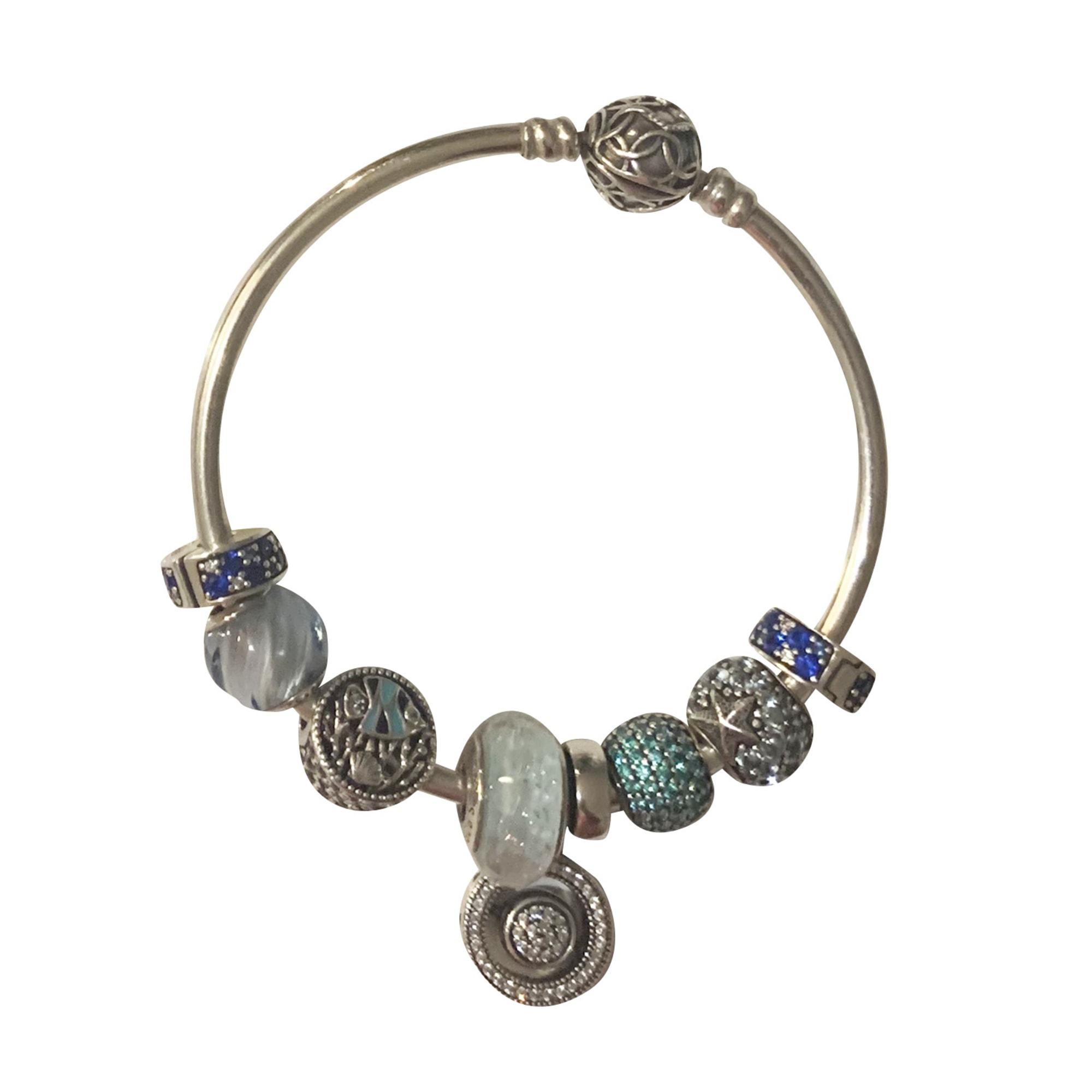 Bracelet PANDORA Bleu, bleu marine, bleu turquoise