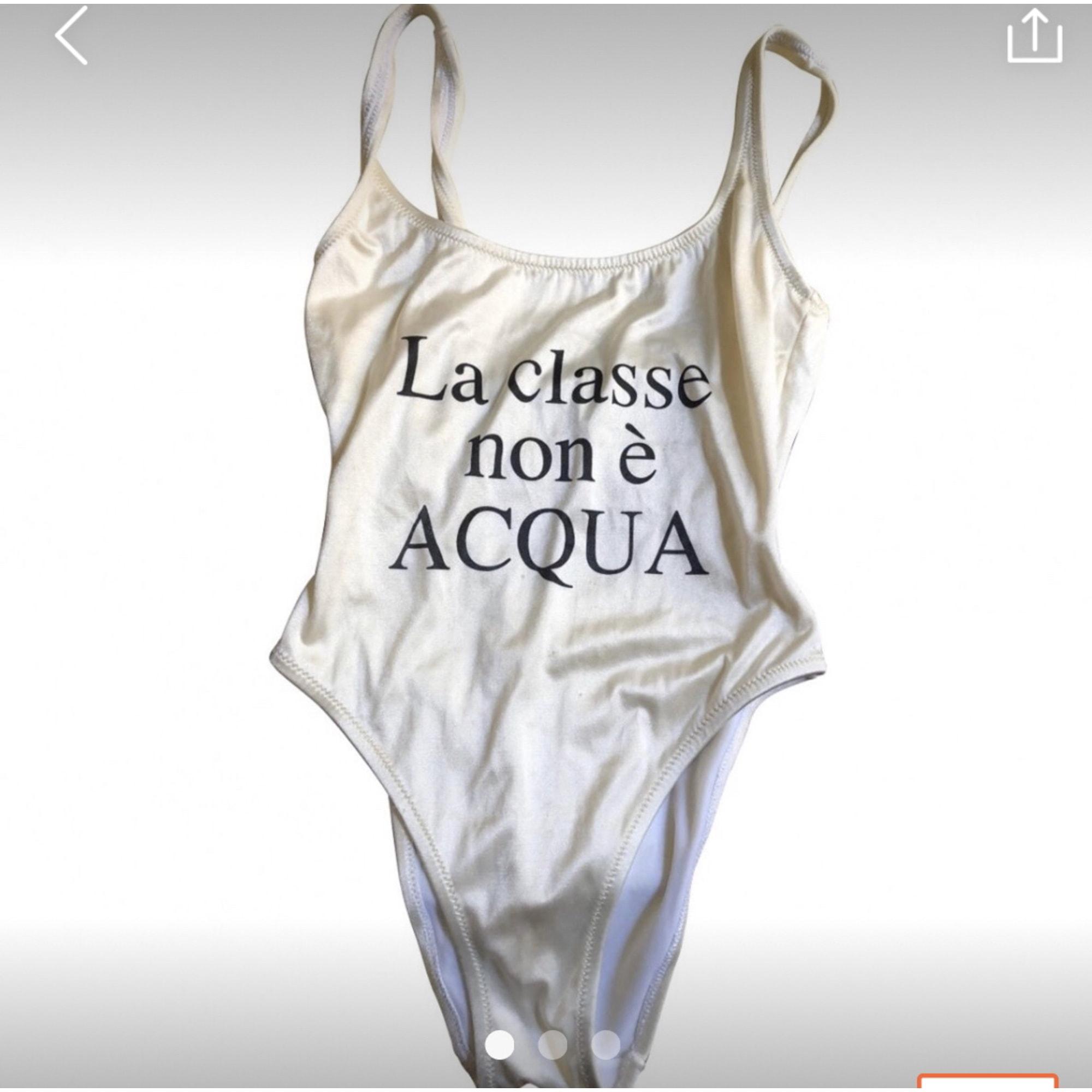 Maillot de bain une-pièce MOSCHINO Blanc, blanc cassé, écru
