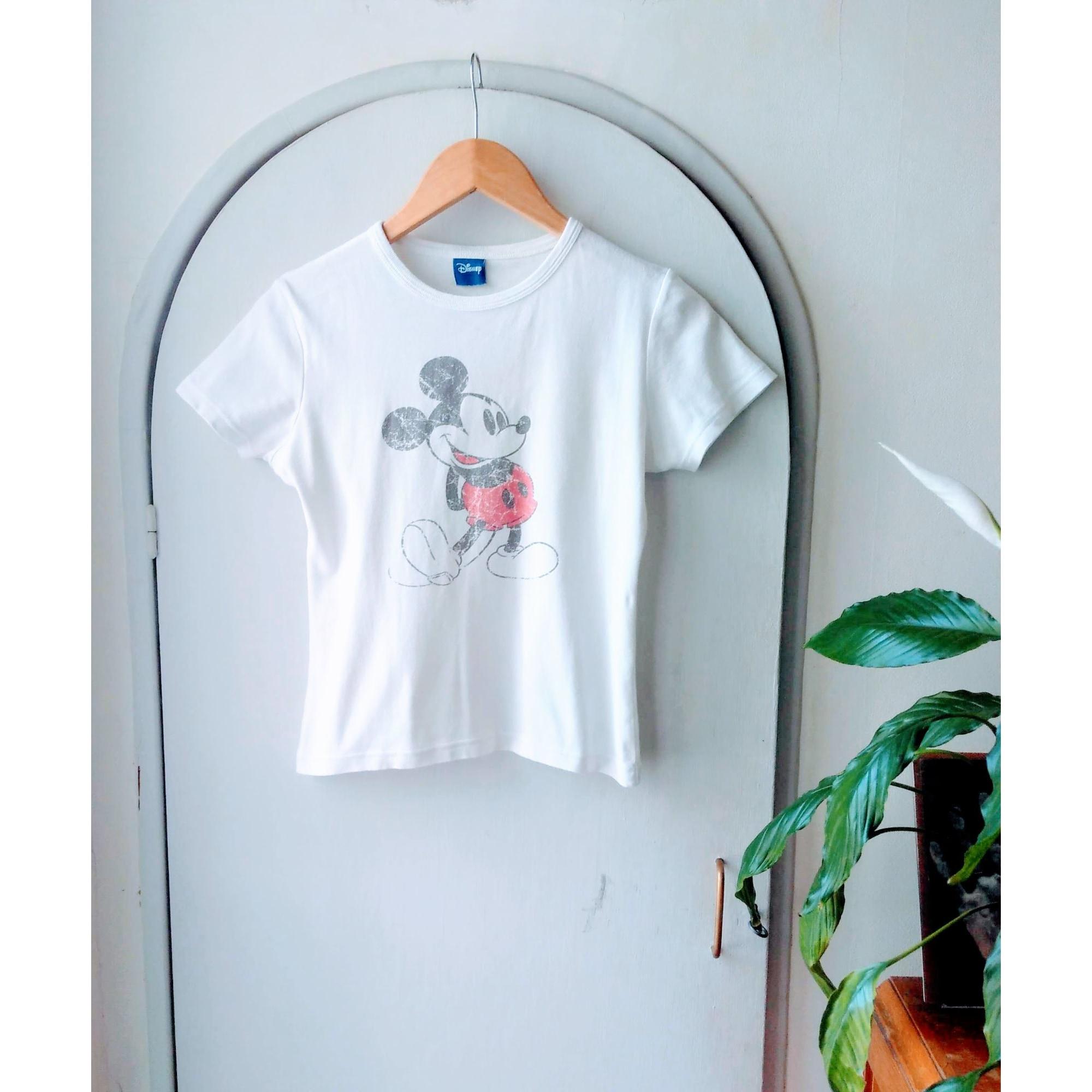 Top, tee-shirt DISNEY Blanc, blanc cassé, écru