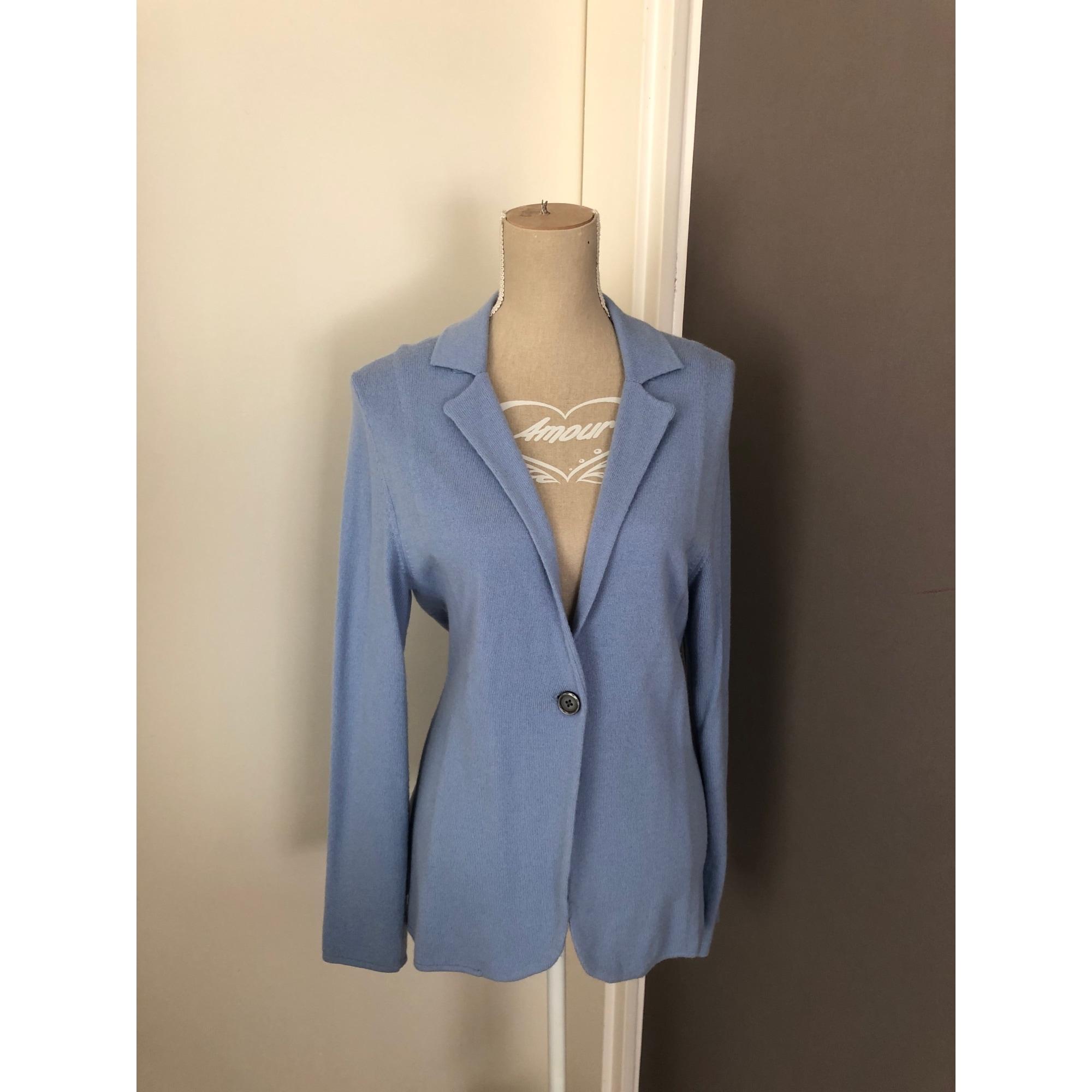 Gilet, cardigan HERMINE DE PASHMINA Bleu, bleu marine, bleu turquoise