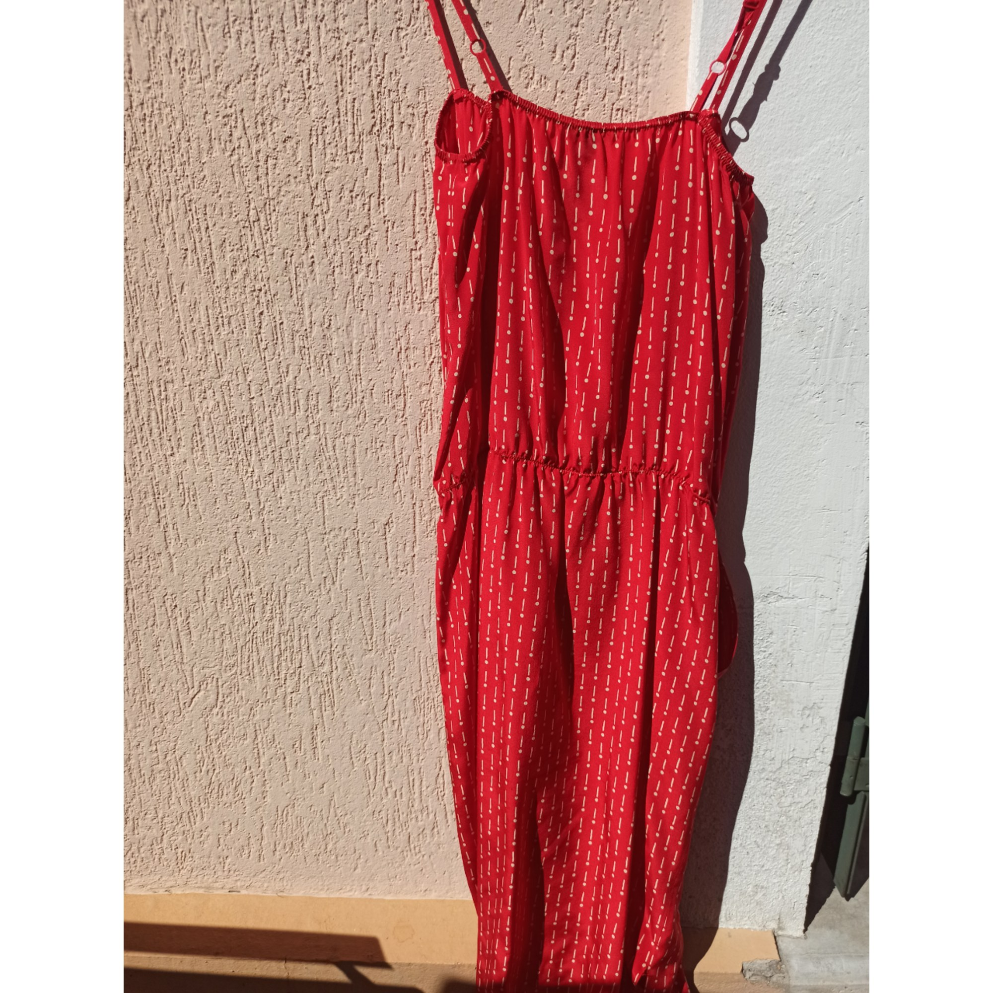 Robe mi-longue JOSEPH Rouge, bordeaux