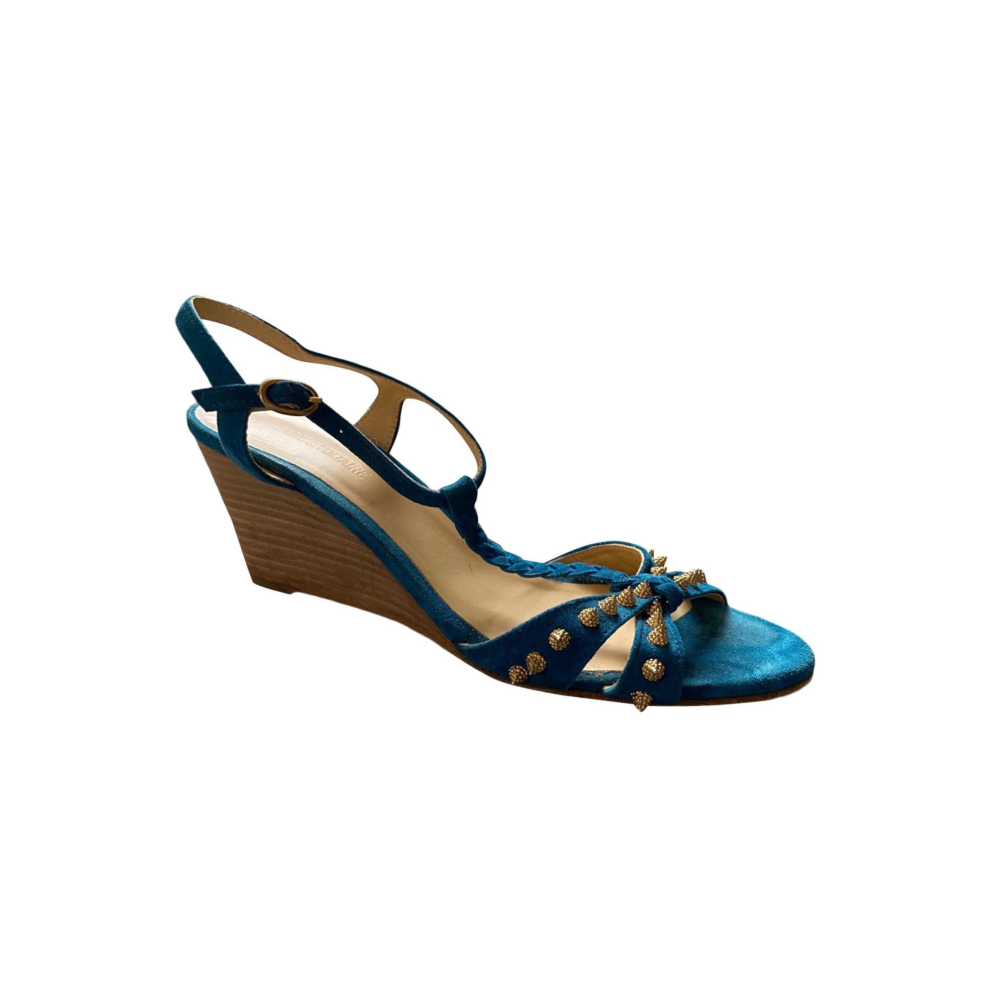 Sandales compensées ZADIG & VOLTAIRE Bleu, bleu marine, bleu turquoise