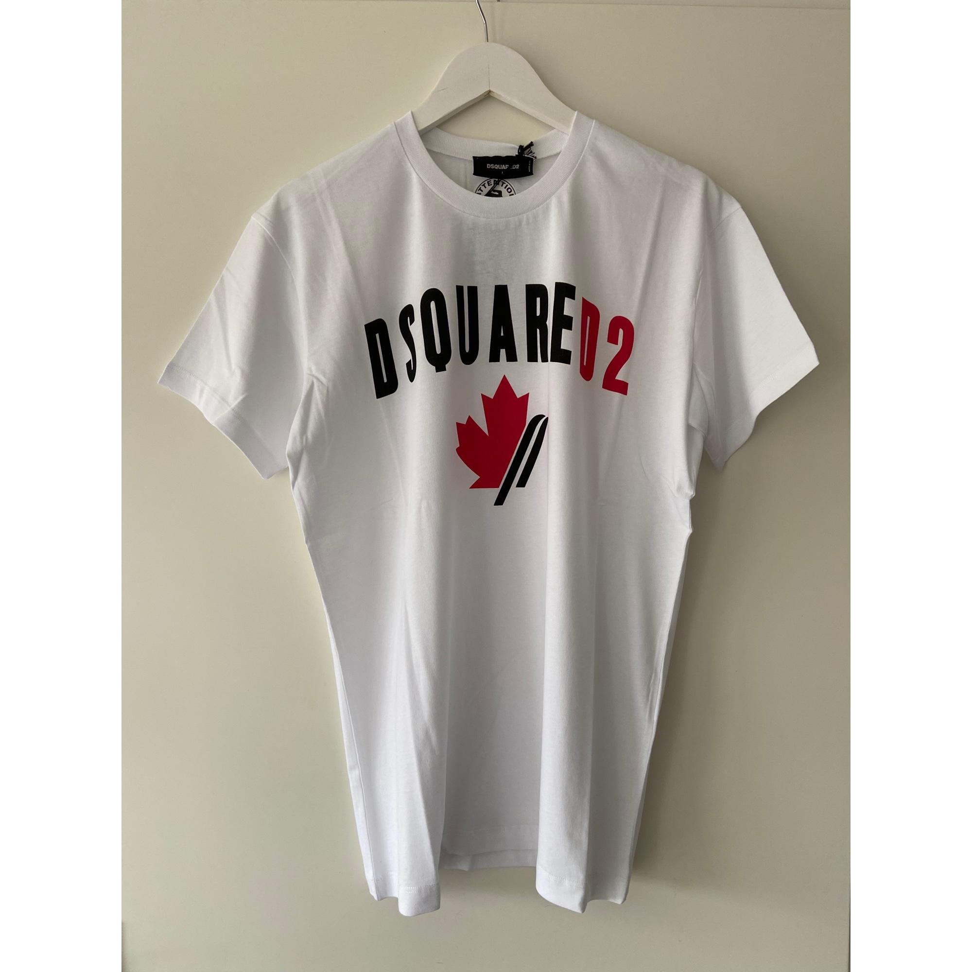 Tee-shirt DSQUARED2 Blanc, blanc cassé, écru