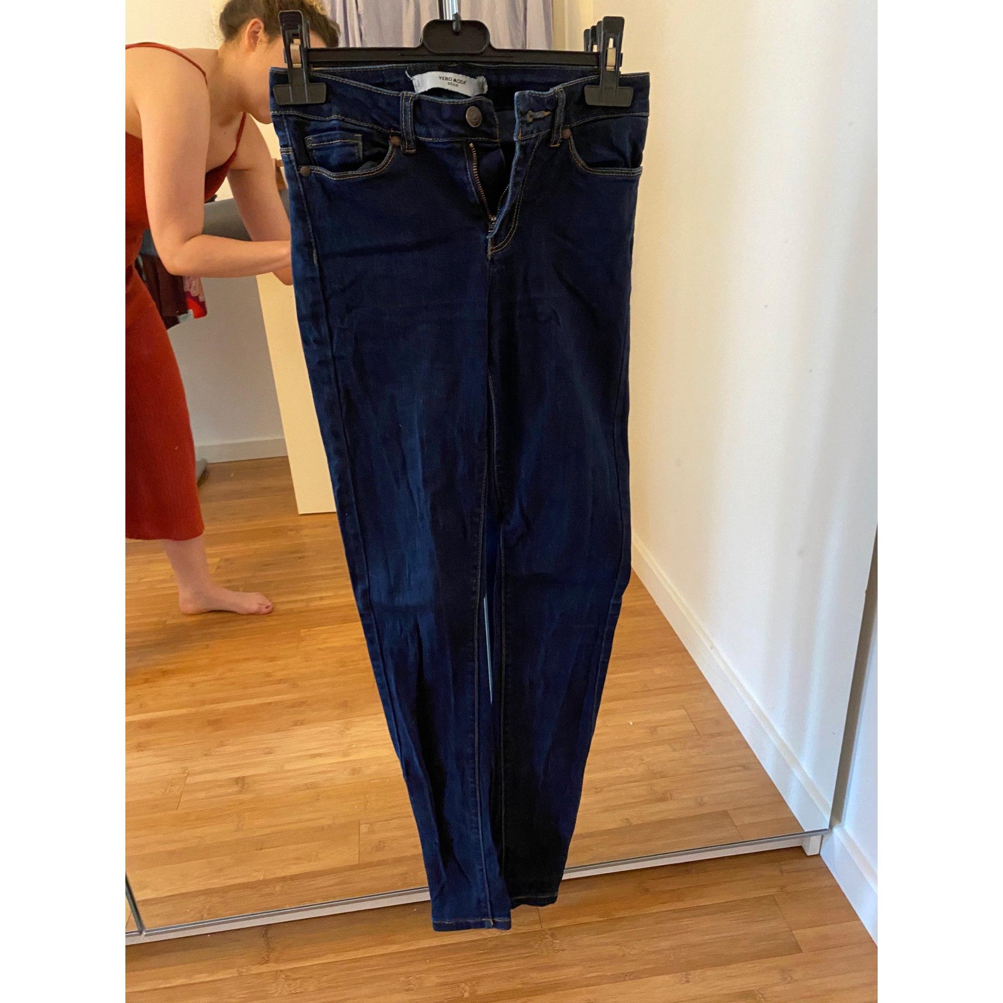 Jeans slim VERO MODA Bleu, bleu marine, bleu turquoise
