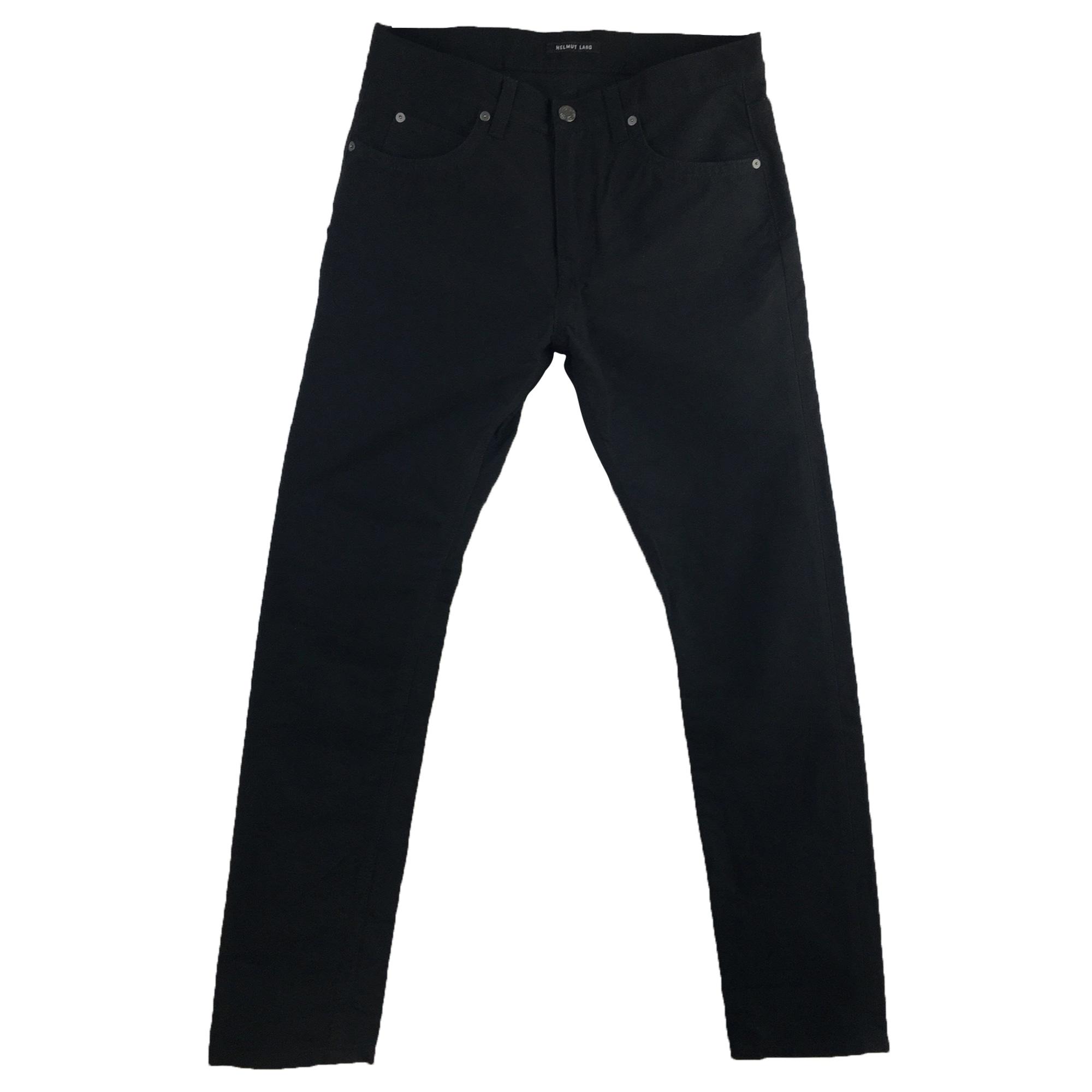 Pantalon slim HELMUT LANG Noir