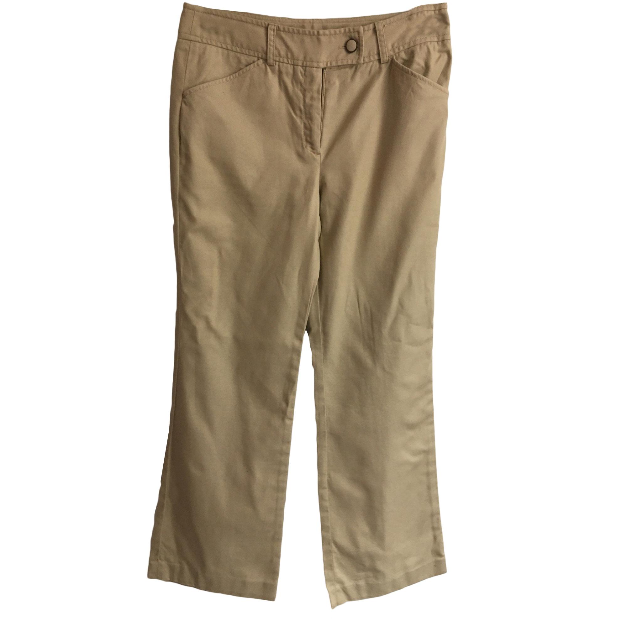 Pantalon droit TOMMY HILFIGER Beige, camel