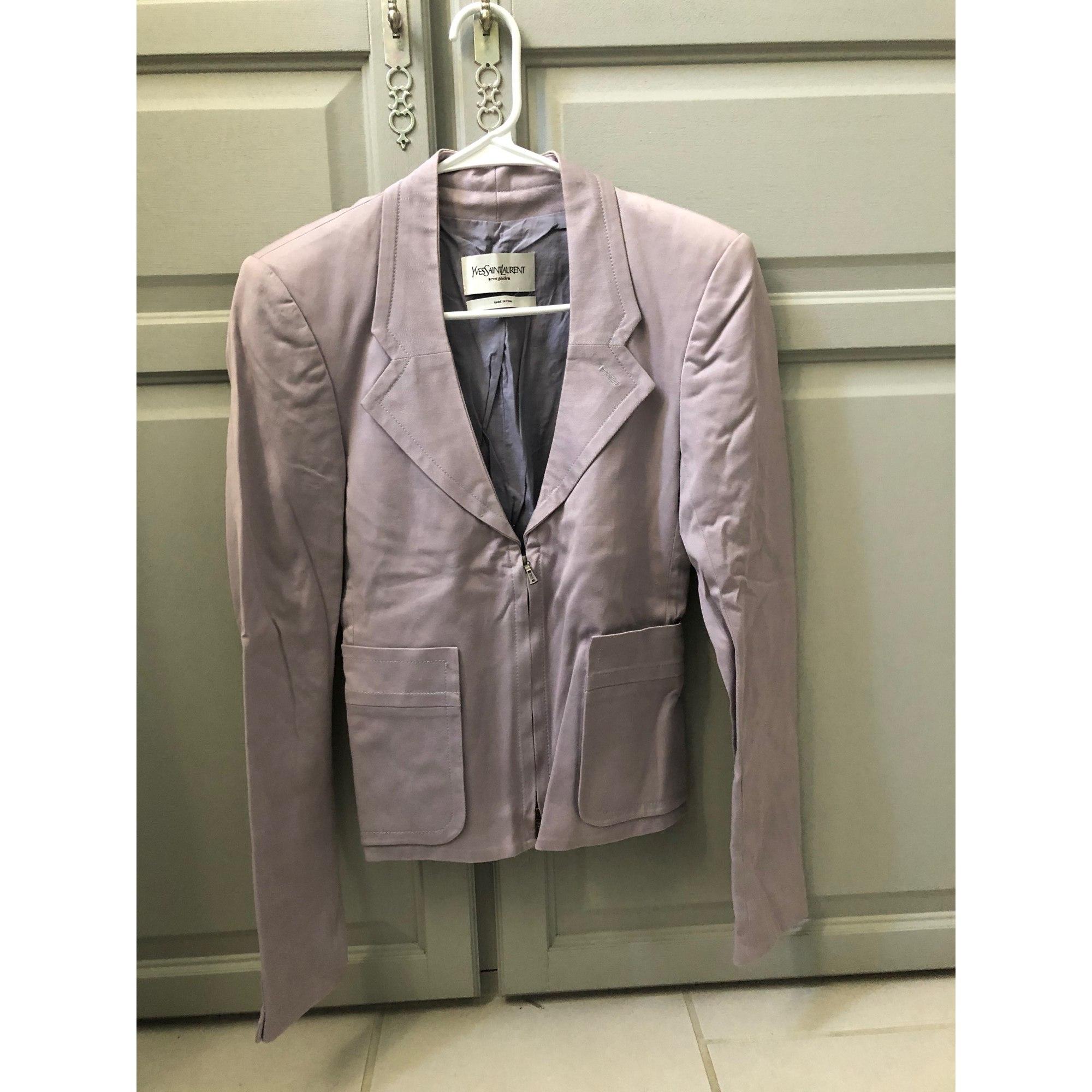 Blazer, veste tailleur YVES SAINT LAURENT Violet, mauve, lavande