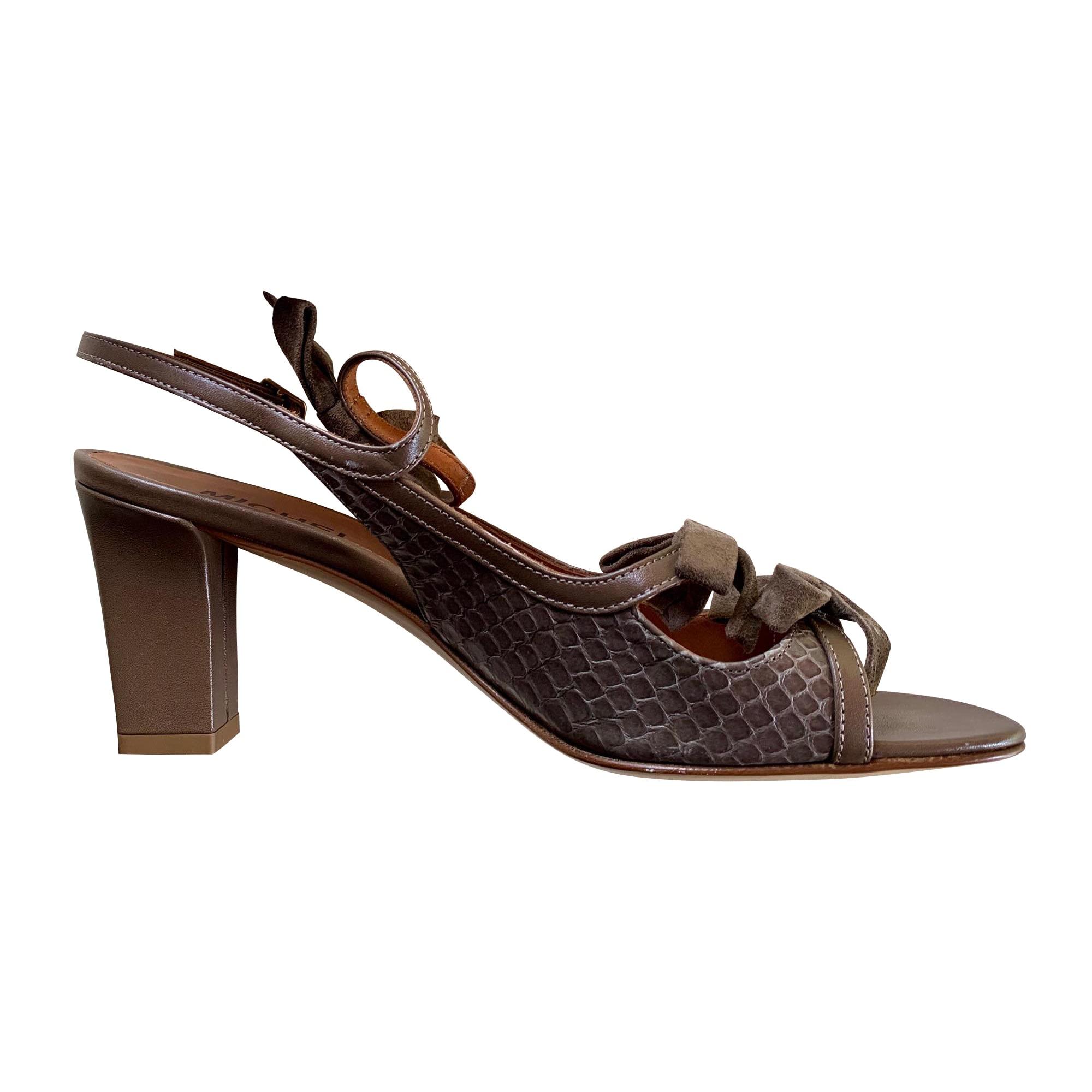 Sandales à talons MICHEL VIVIEN Marron