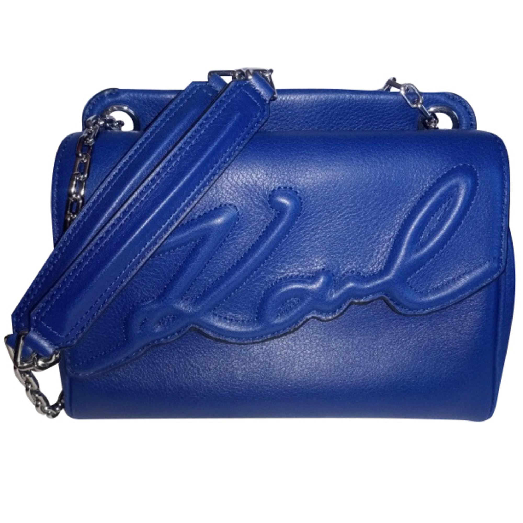 Lederhandtasche KARL LAGERFELD Blau, marineblau, türkisblau