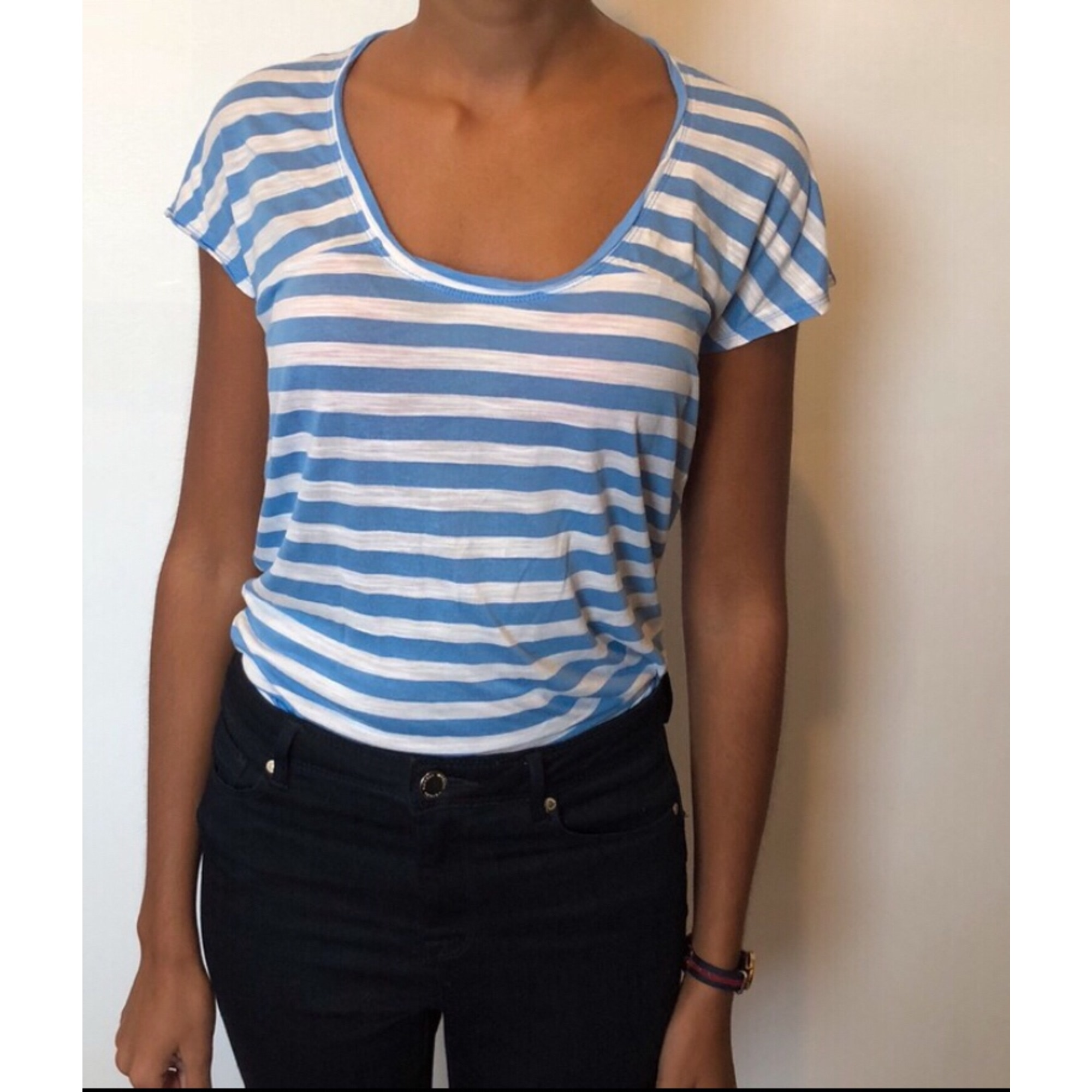 Top, tee-shirt BCBG MAX AZRIA Bleu, bleu marine, bleu turquoise