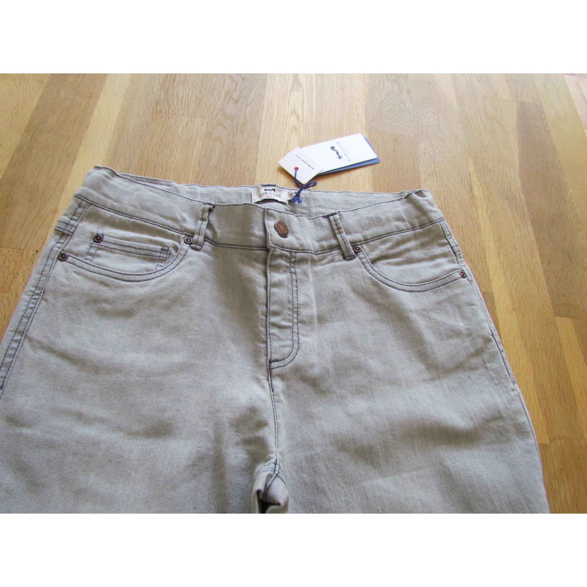 Jeans droit CYRILLUS Gris, anthracite