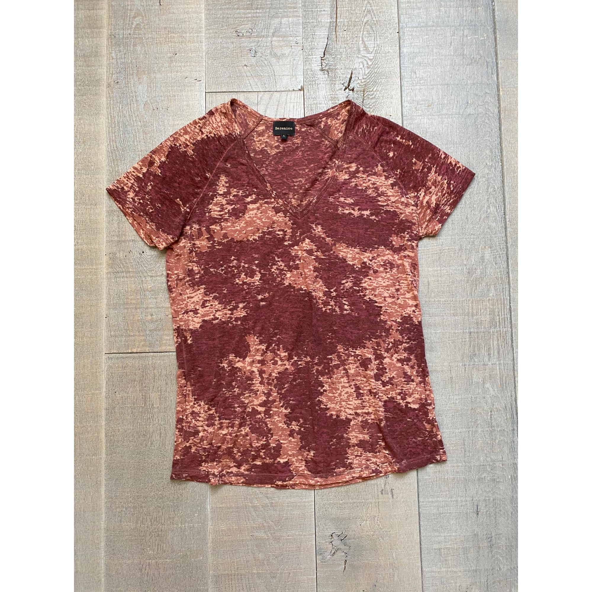 Top, tee-shirt BERENICE Rouge, bordeaux