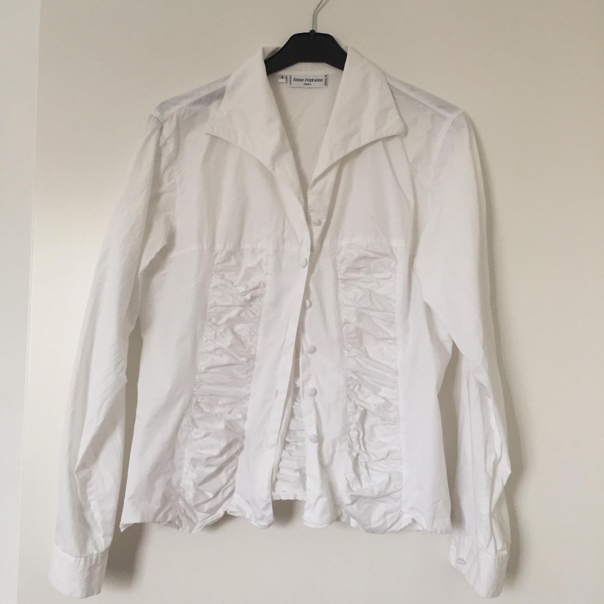 Chemisier ANNE FONTAINE Blanc, blanc cassé, écru