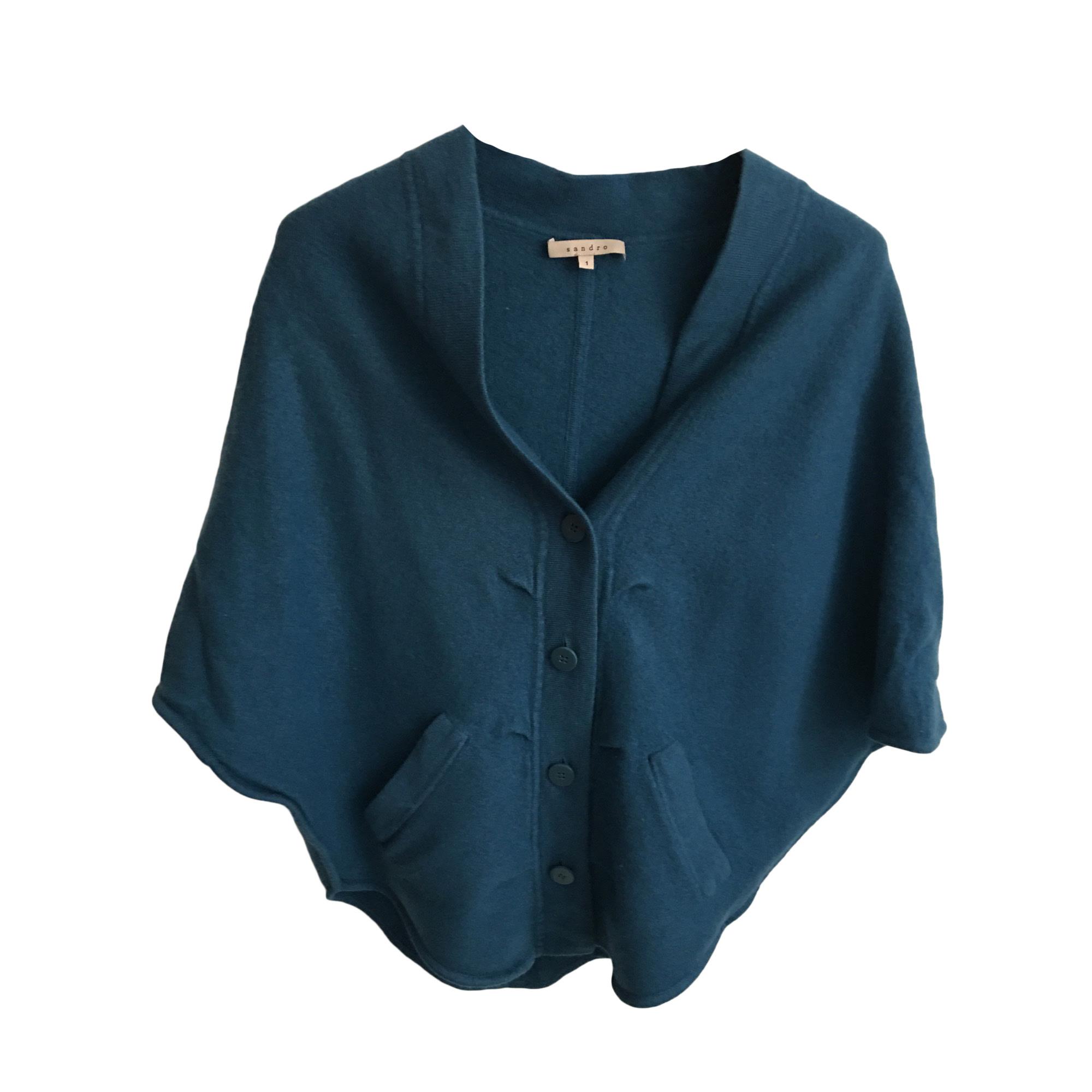 Poncho SANDRO Bleu, bleu marine, bleu turquoise