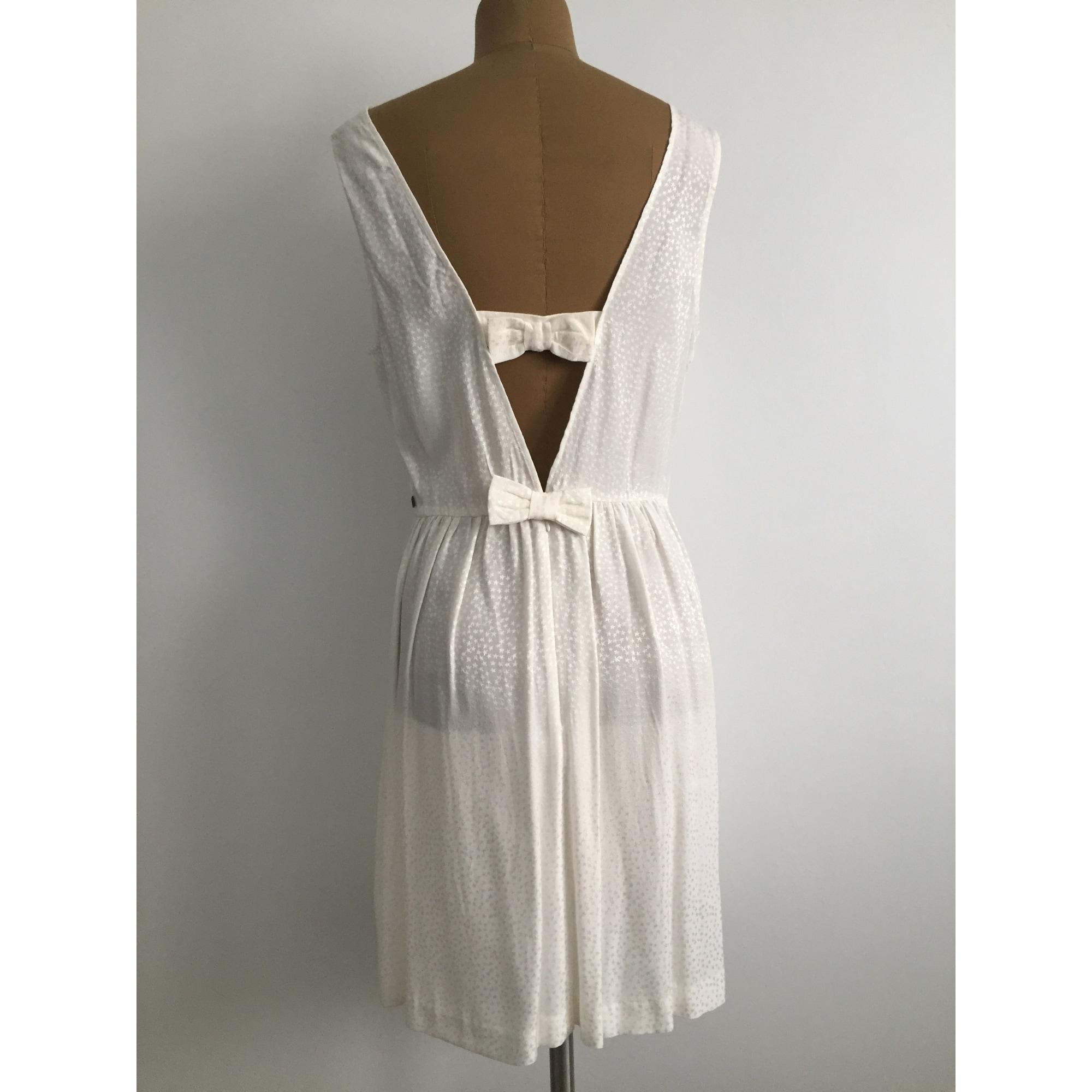 Robe courte I. CODE Blanc, blanc cassé, écru