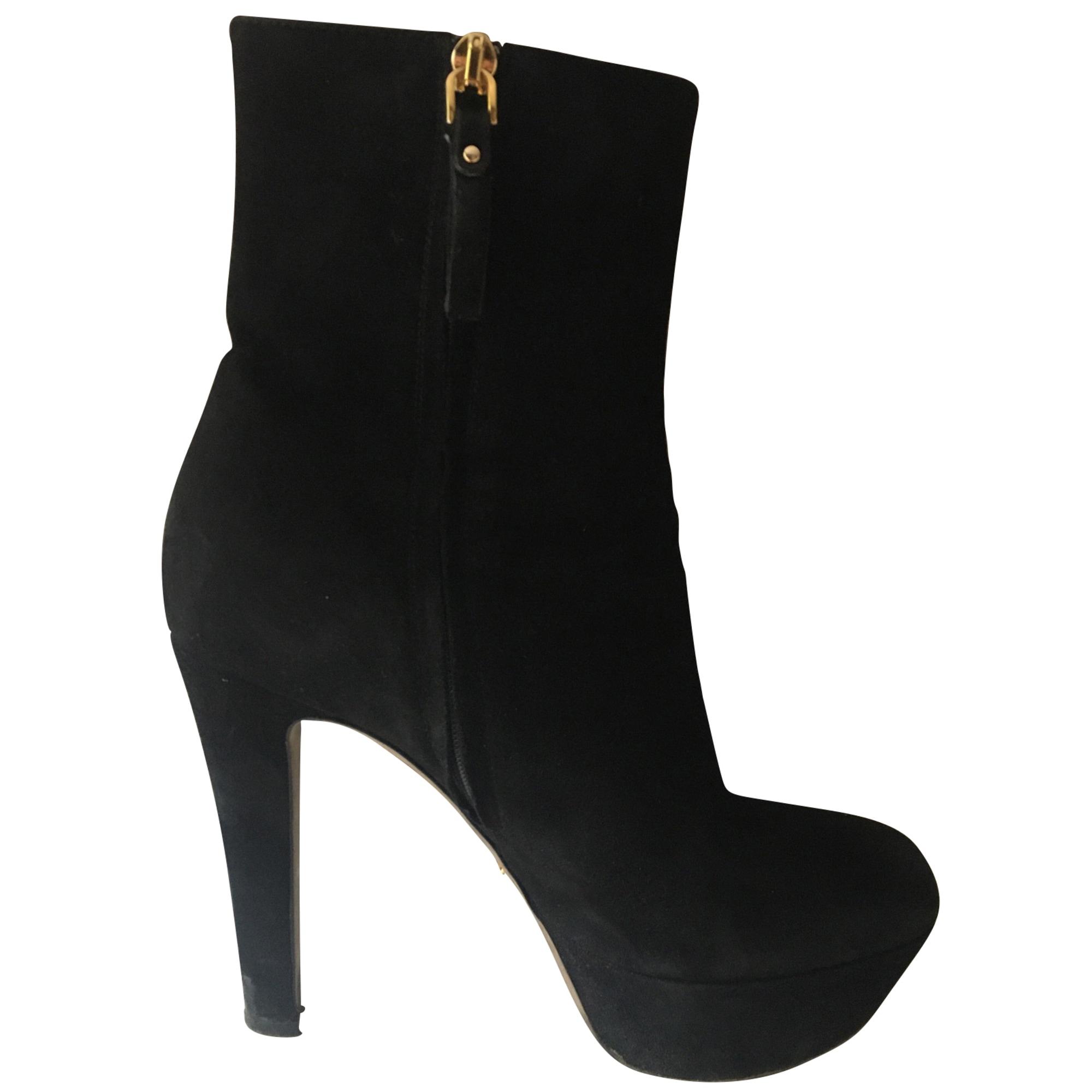 Bottines & low boots à talons SERGIO ROSSI Noir
