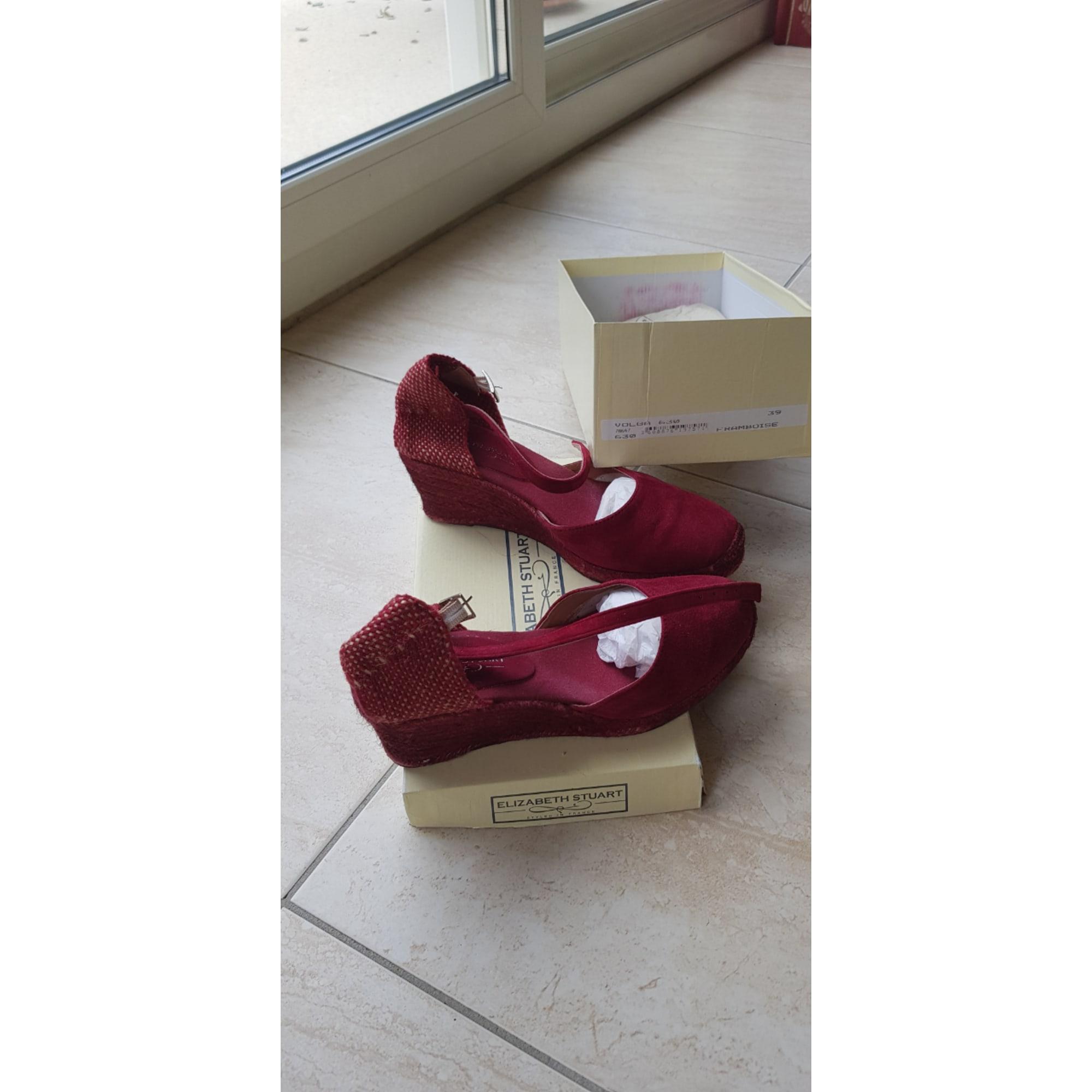 Sandales compensées ELIZABETH STUART framboise