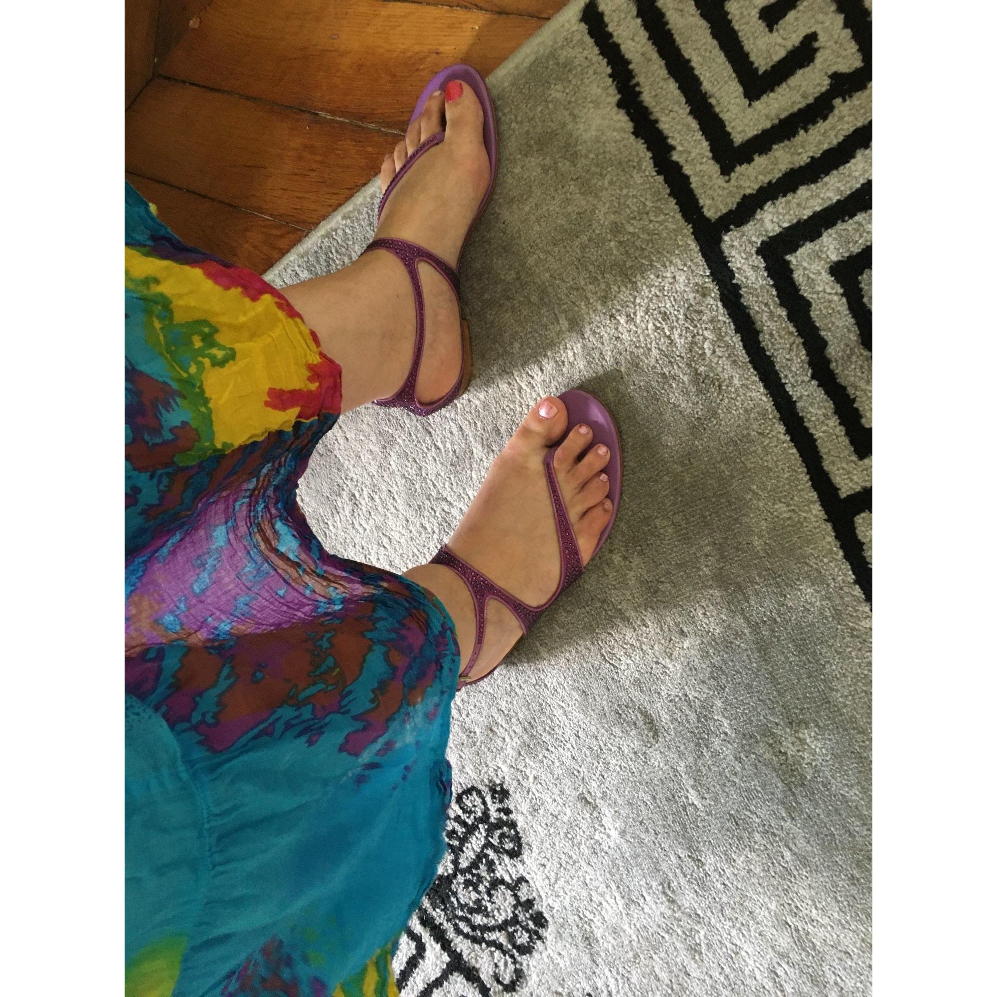 Sandales plates  GUCCI Rose, fuschia, vieux rose
