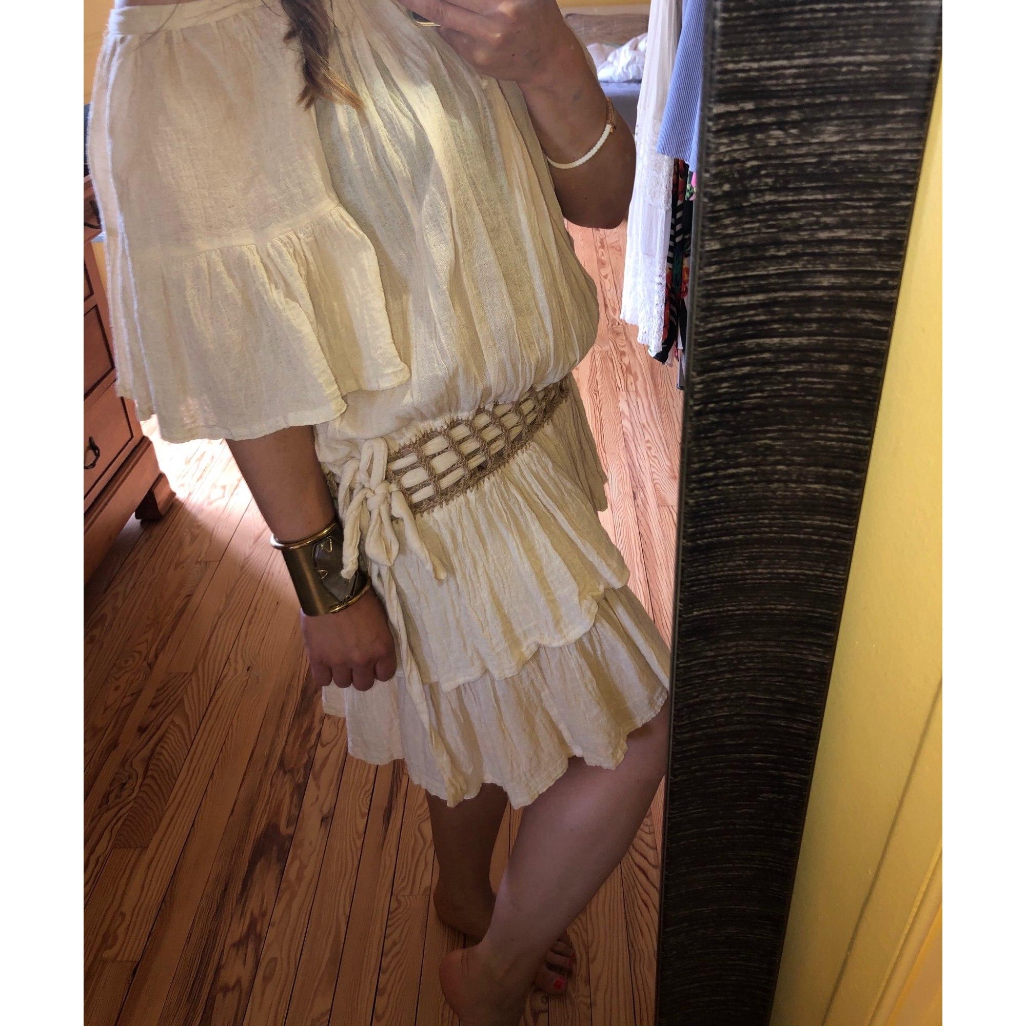 Robe mi-longue KENZO JUNGLE Blanc, blanc cassé, écru
