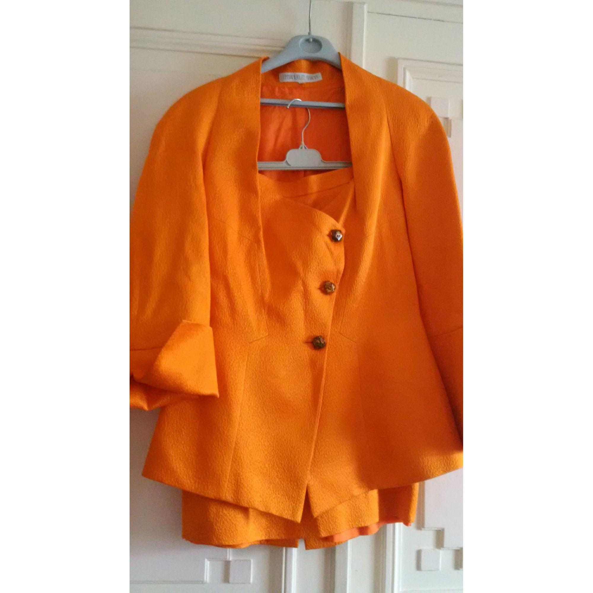 Tailleur jupe EMMANUELLE KHANH Orange