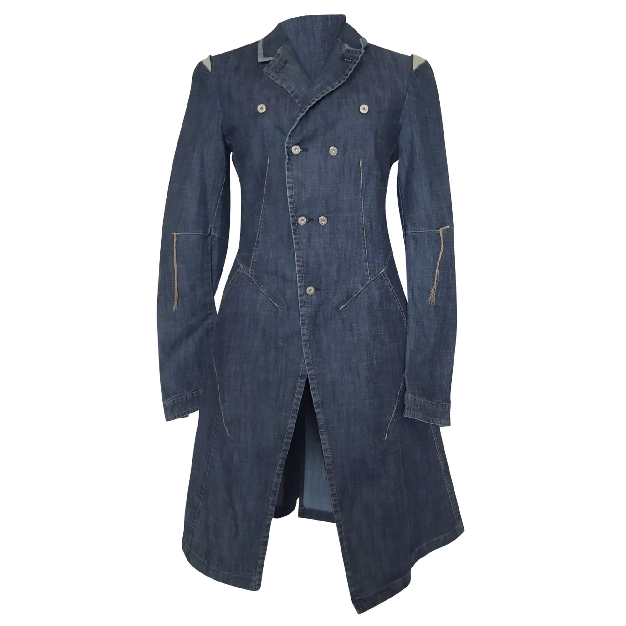 Manteau en jean MARITHÉ ET FRANÇOIS GIRBAUD Bleu, bleu marine, bleu turquoise