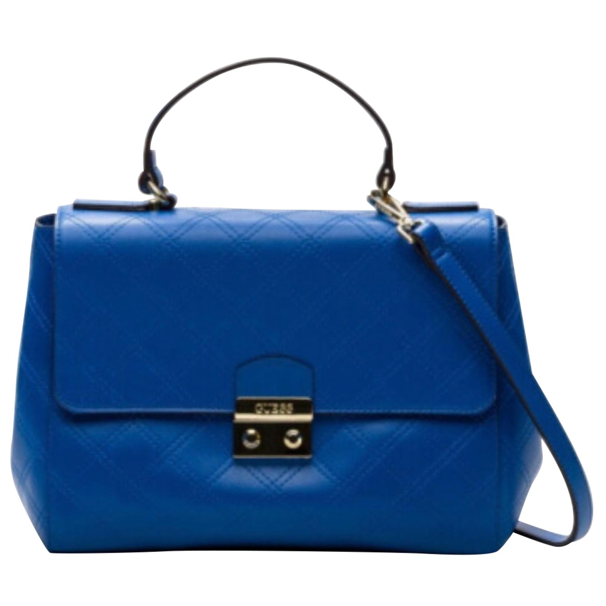 Sac à main en cuir GUESS Bleu, bleu marine, bleu turquoise