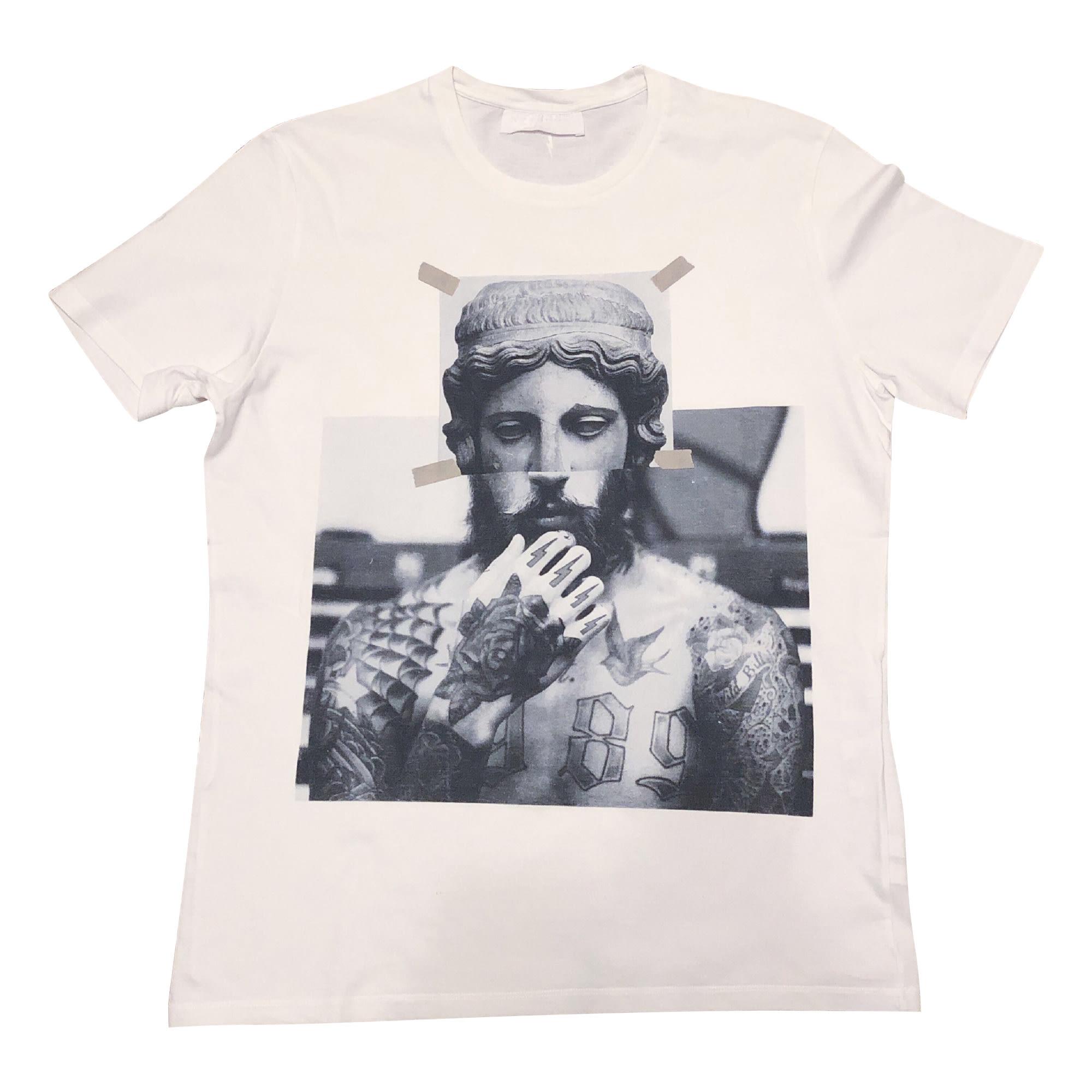 Tee-shirt NEIL BARRETT Blanc, blanc cassé, écru
