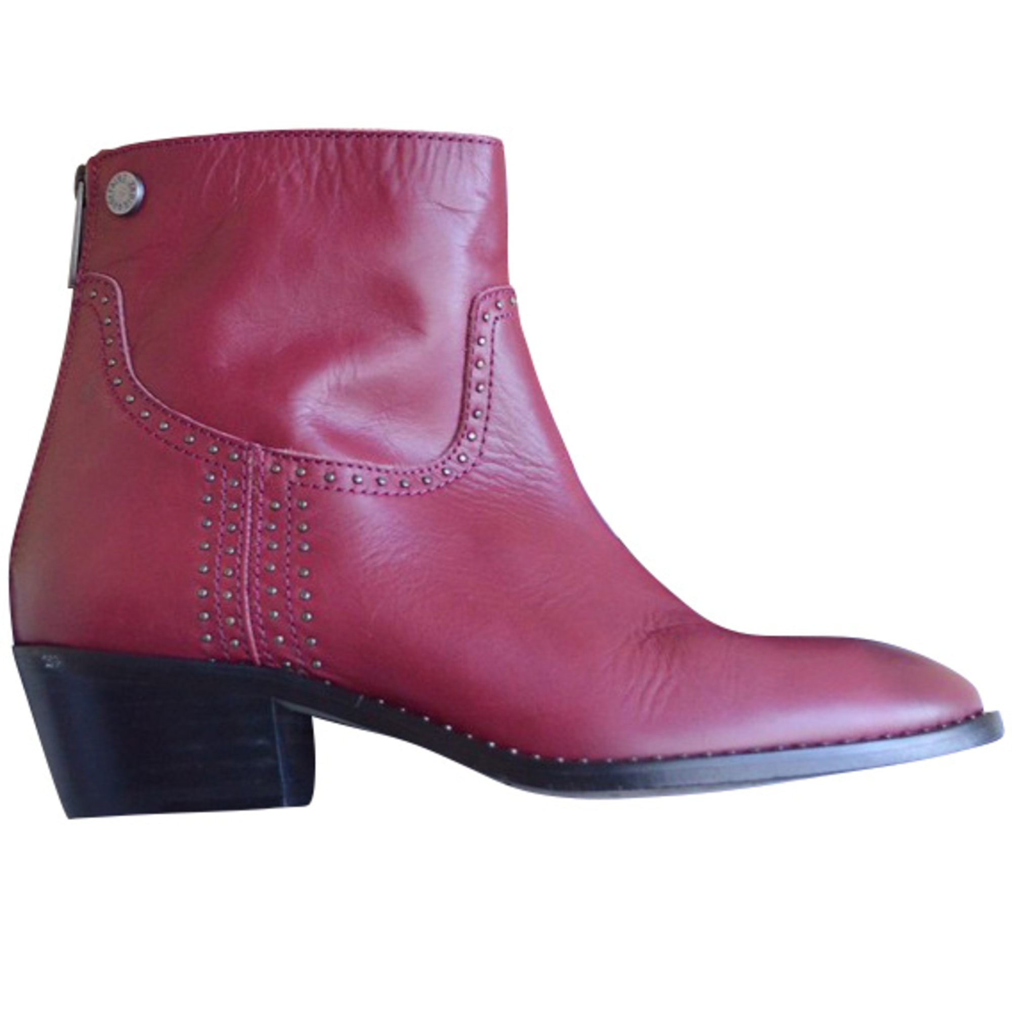 High Heel Ankle Boots ZADIG & VOLTAIRE Red, burgundy