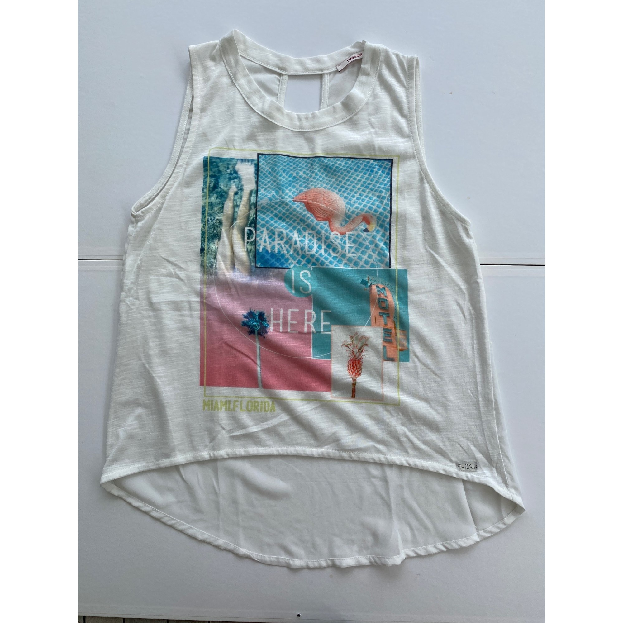 Top, tee-shirt COQUELICOT Blanc, blanc cassé, écru