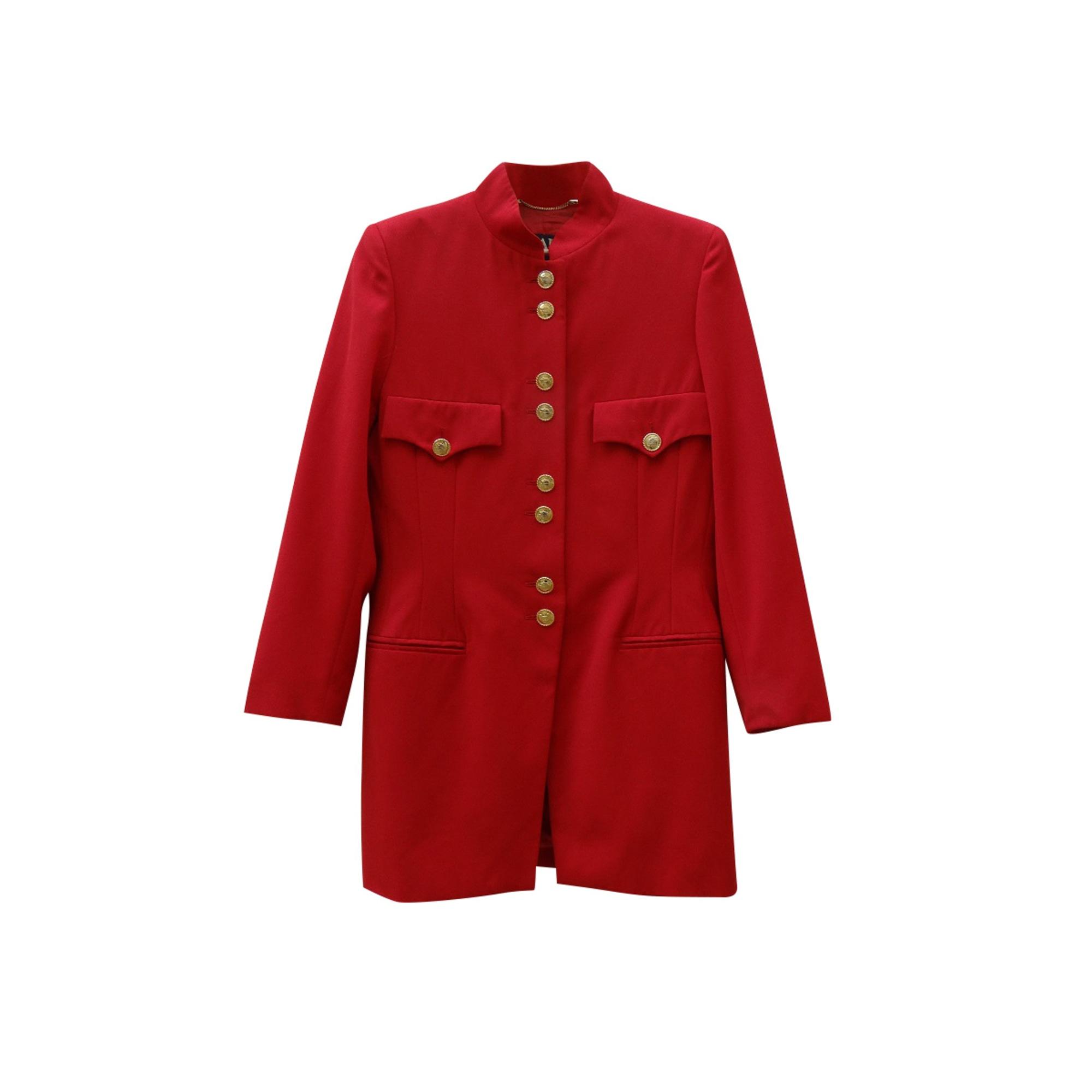 Manteau ESCADA Rouge, bordeaux