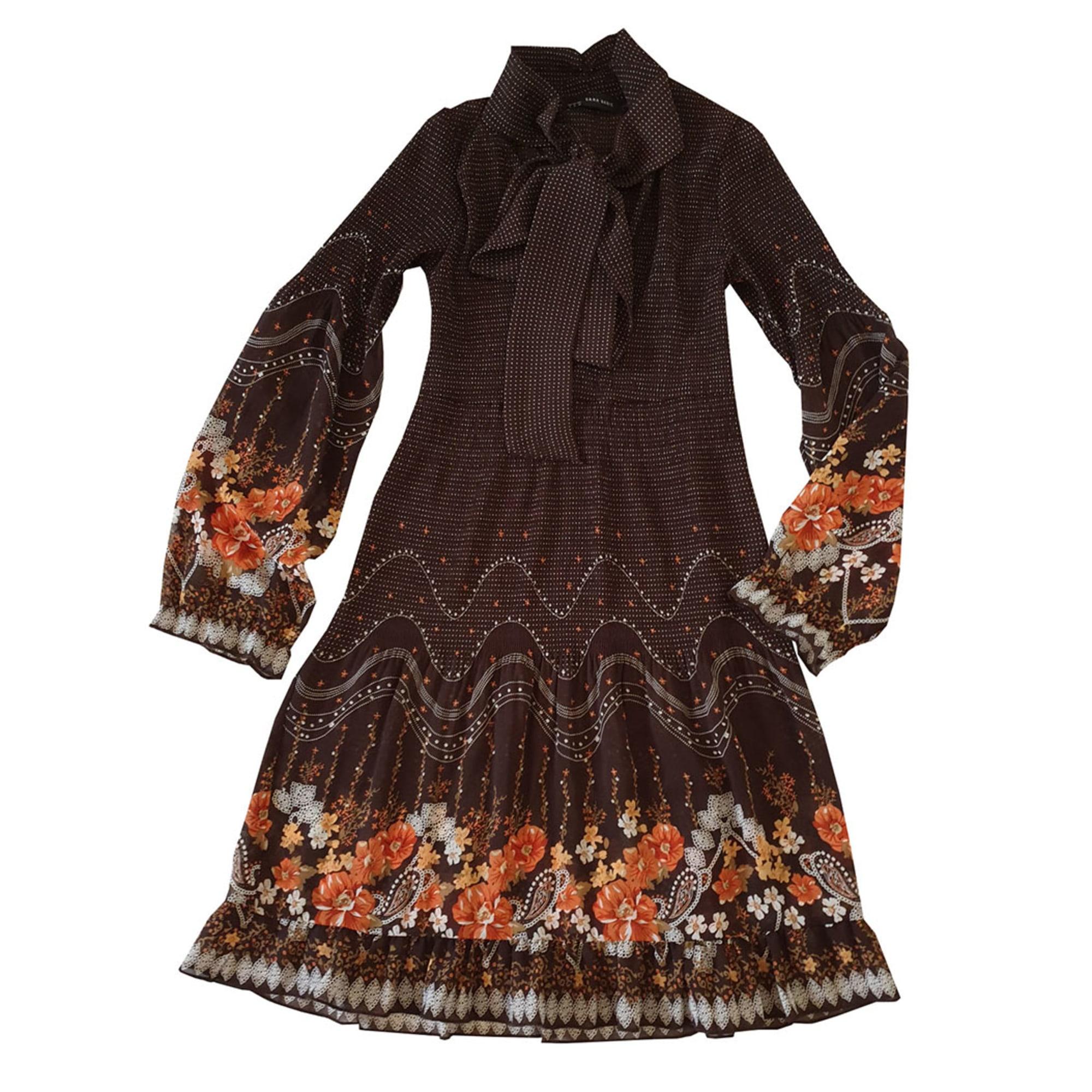 Robe mi-longue ZARA Multicouleur