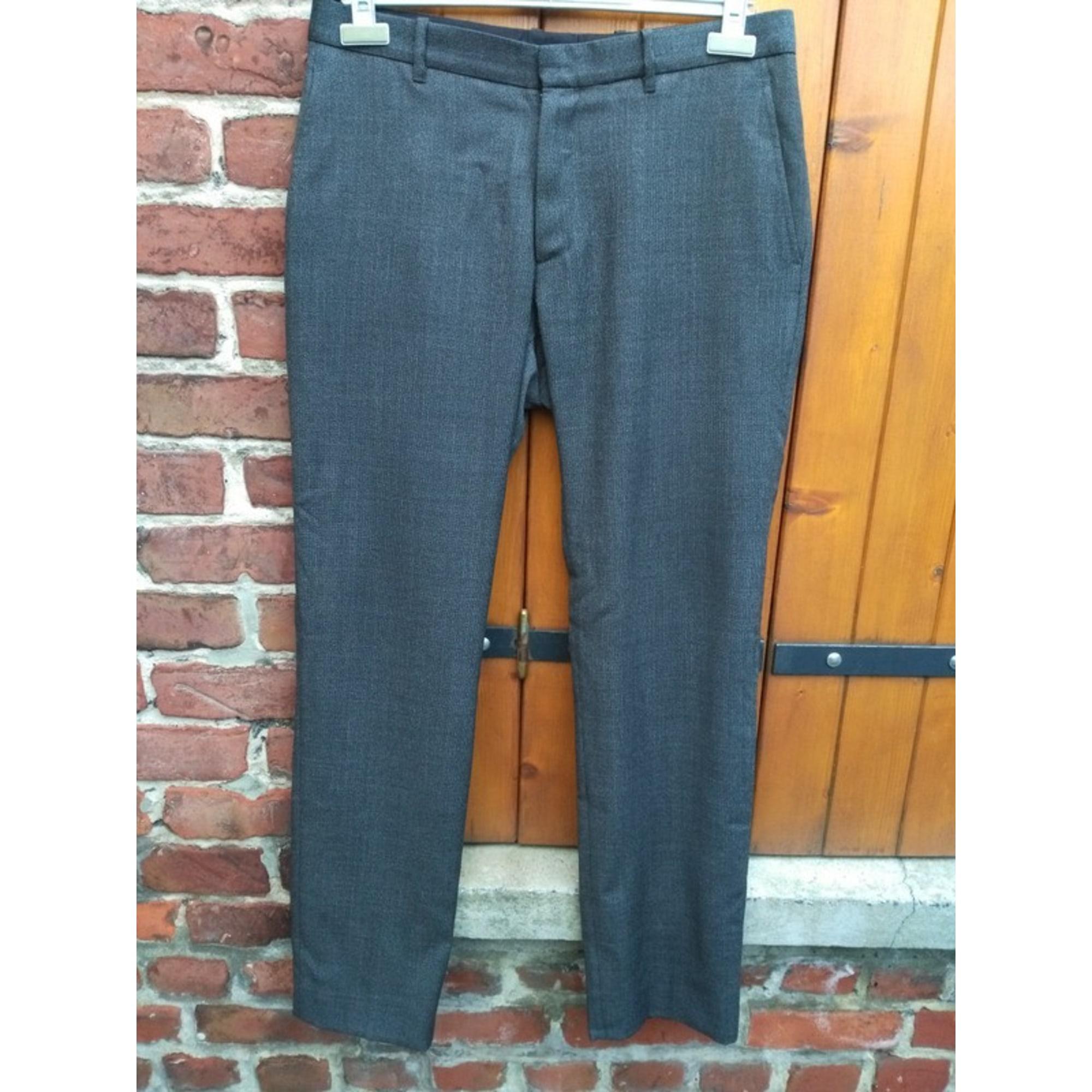 Pantalon droit IKKS Gris, anthracite