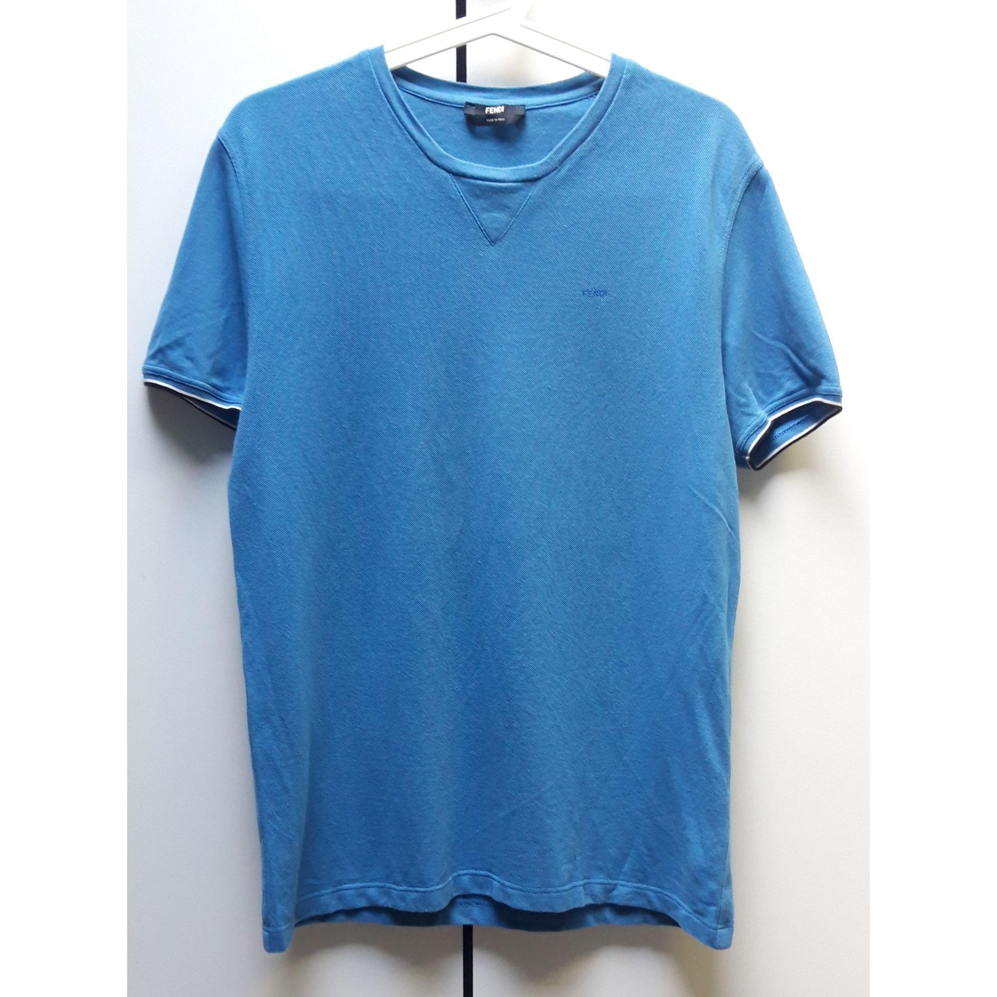 Tee-shirt FENDI Bleu, bleu marine, bleu turquoise