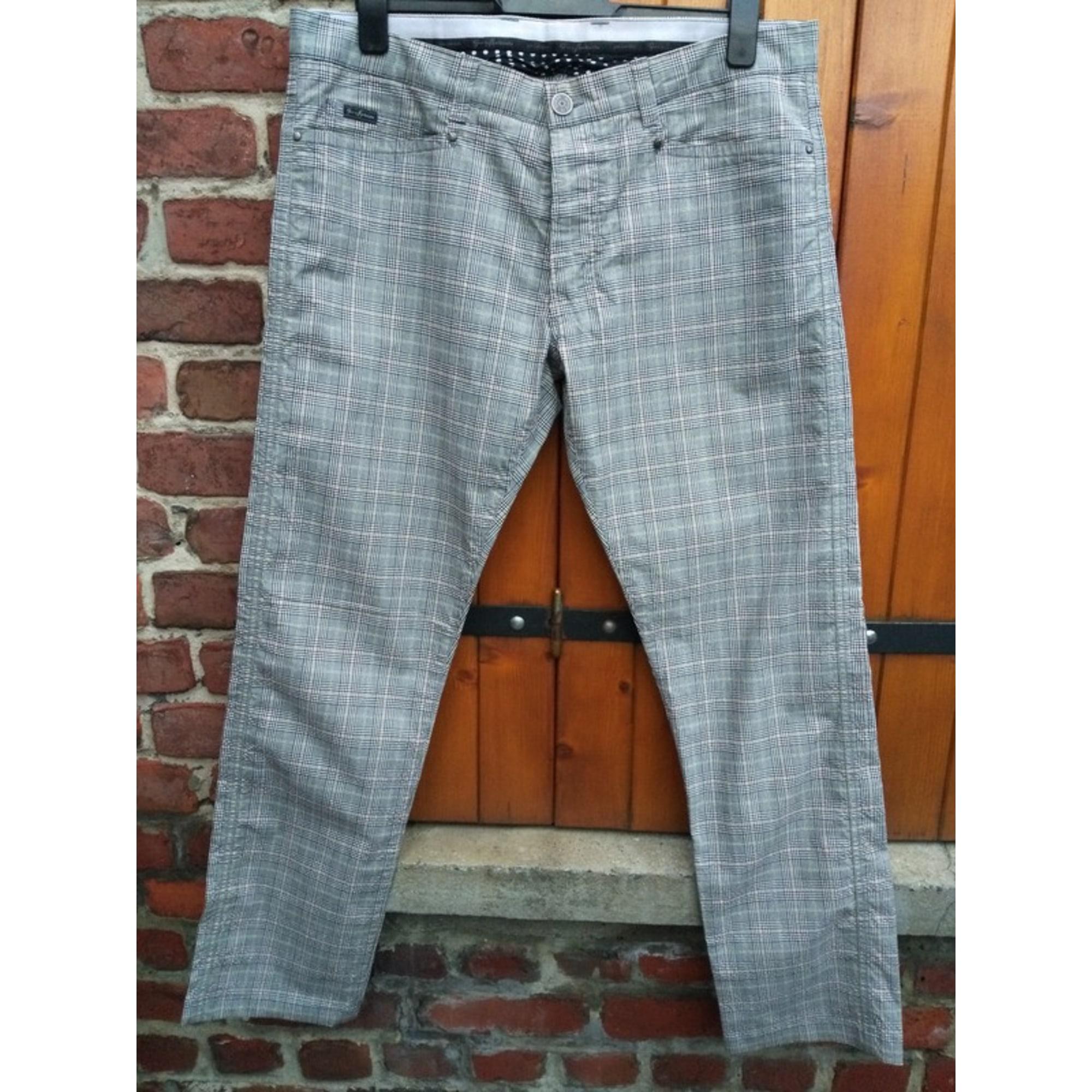 Pantalon droit GUESS Gris, anthracite