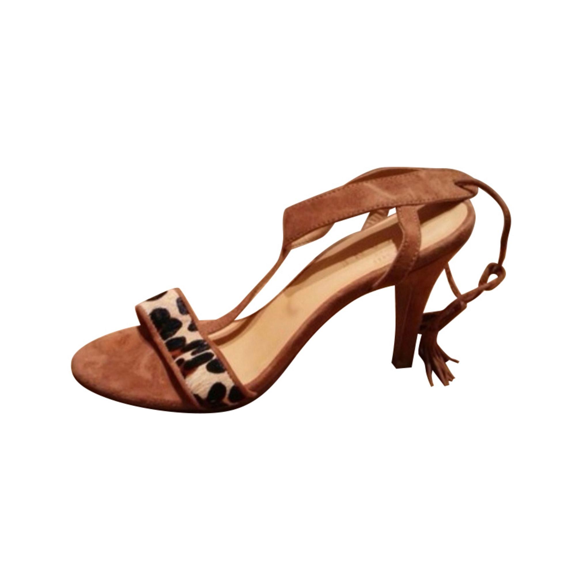 Sandales à talons SÉZANE Beige, camel