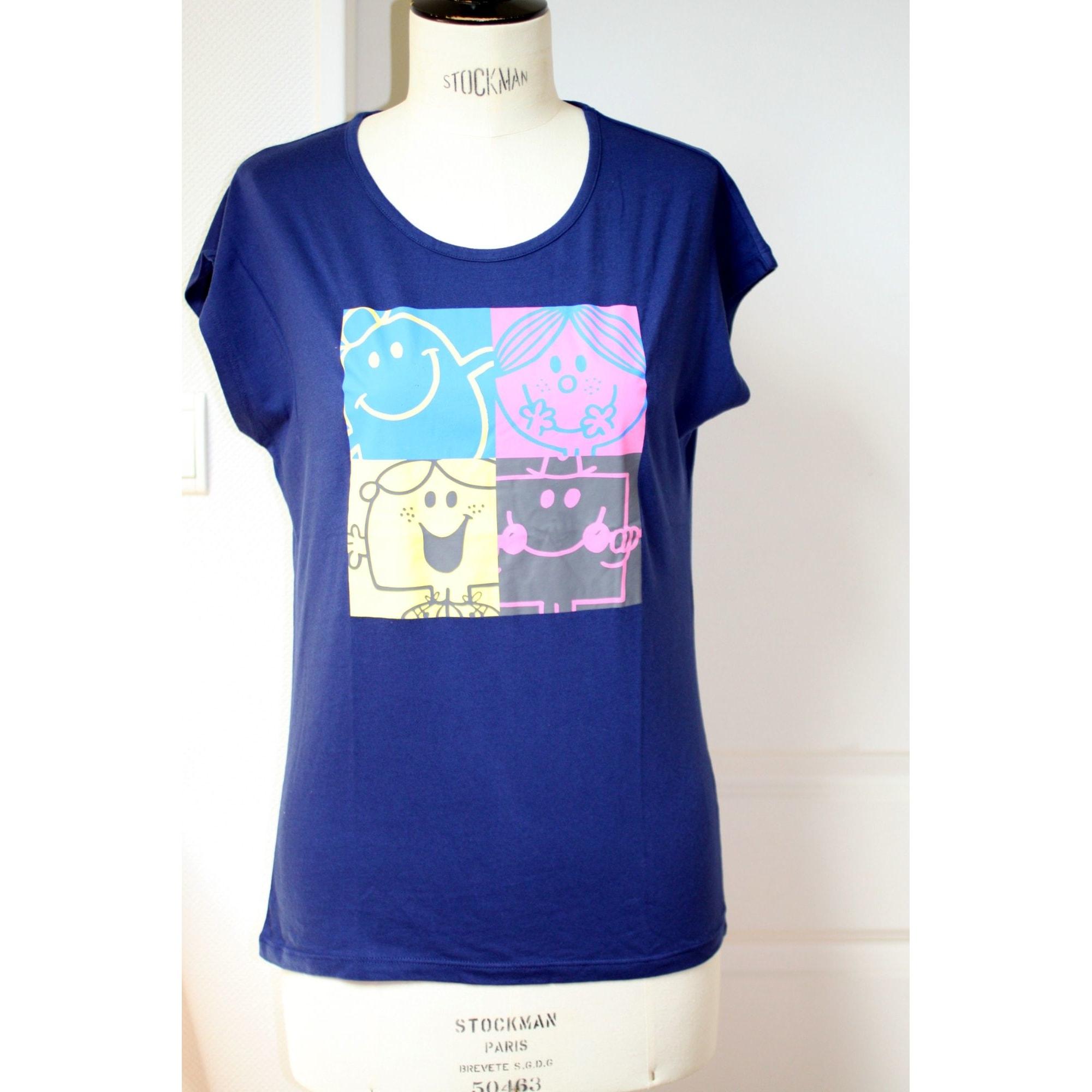 Top, tee-shirt UNIQLO Bleu, bleu marine, bleu turquoise