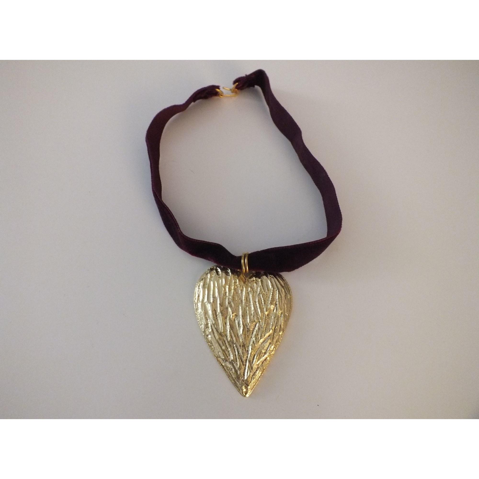 Pendentif, collier pendentif POGGI Doré, bronze, cuivre