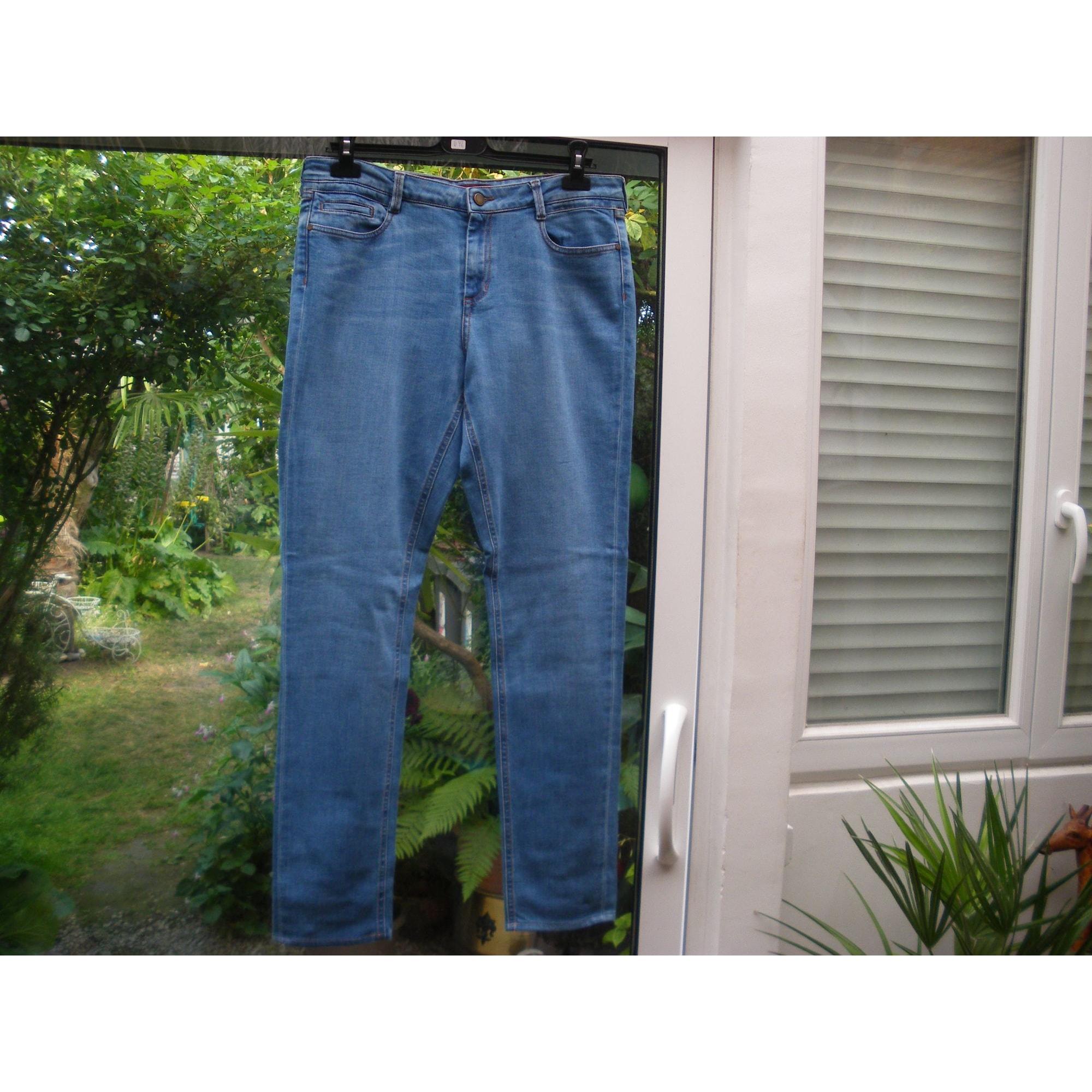 Jeans slim COMPTOIR DES COTONNIERS Bleu, bleu marine, bleu turquoise